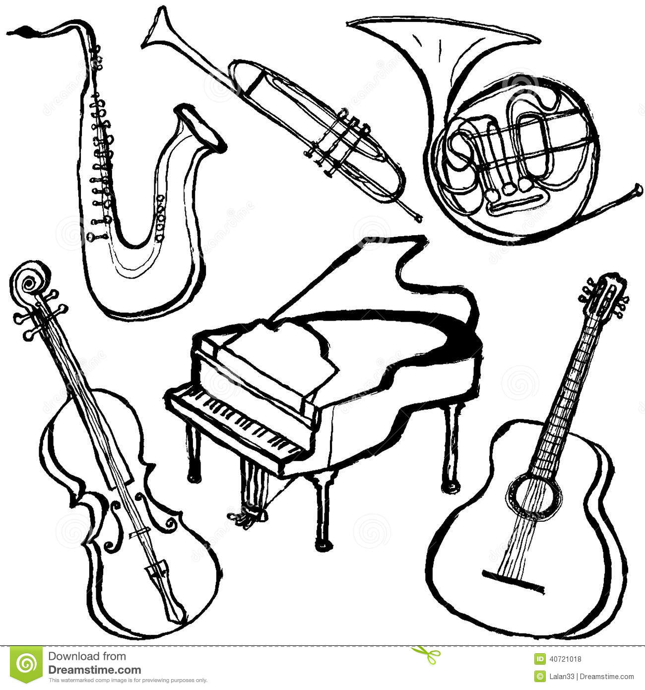 Musical instruments. stock vector. Illustration of concert ...