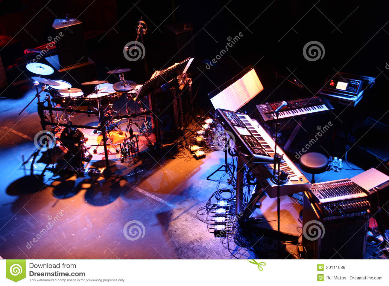 Musical Instruments stage setup