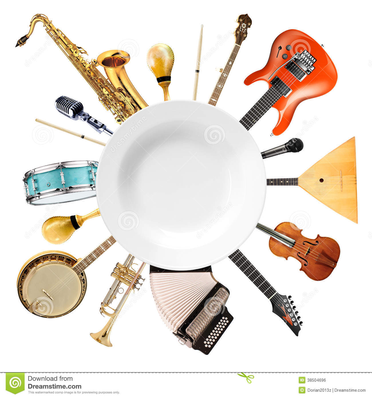 Modern Musical Instruments: Musical Instruments, Orchestra Stock Photo