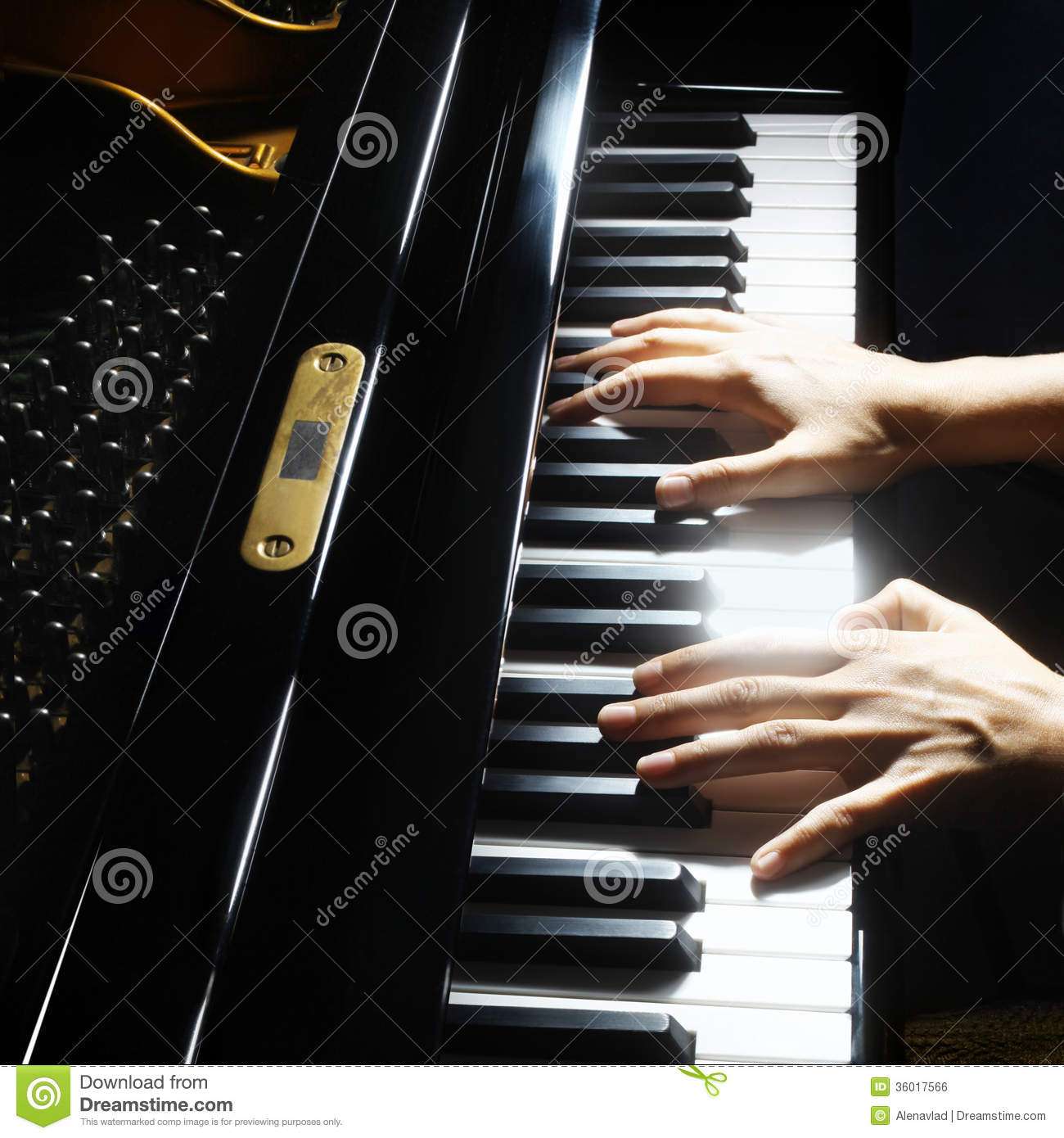 Musical Instruments Piano Hands Stock Photo - Image of ...