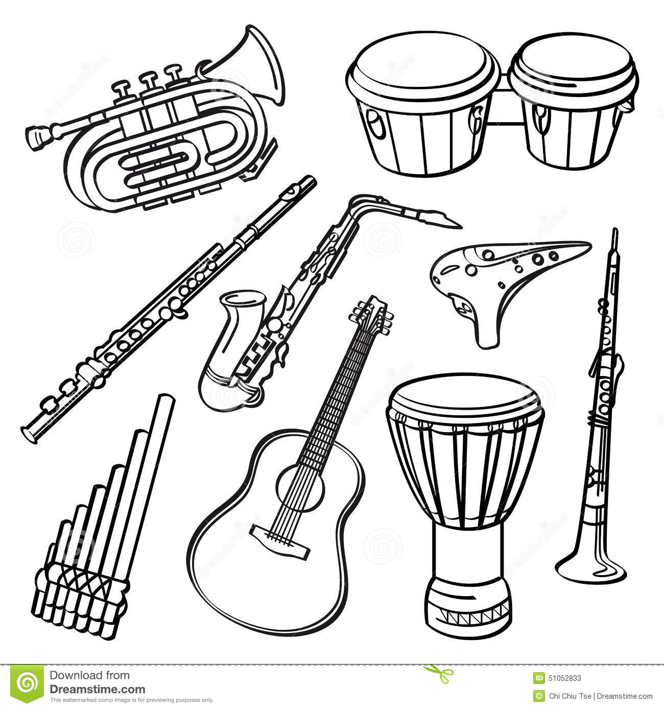 Kids Under 7: Musical-instruments Coloring Pages Free printable pictures of musical instruments