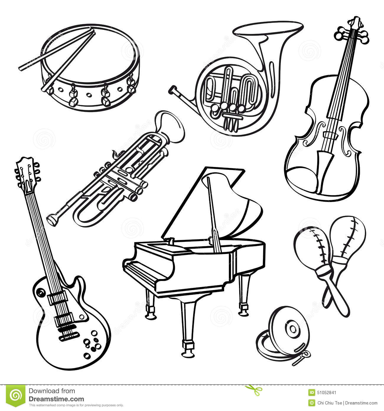 Free printable pictures of musical instruments Cached