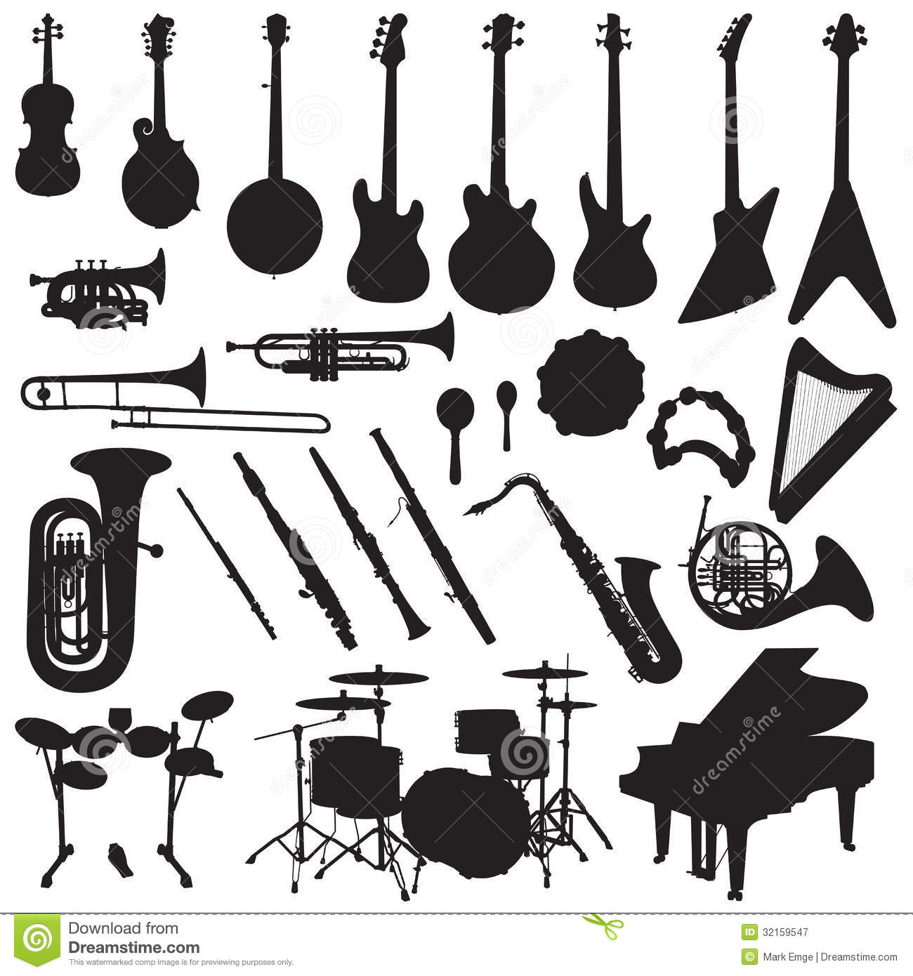 Musical Instruments Vector Royalty Free Stock Photography - Image ...