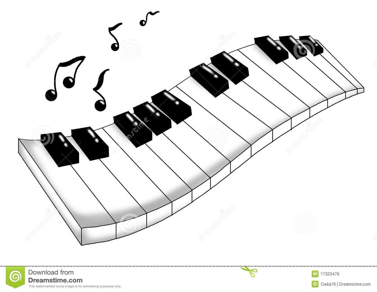 Musical Keyboard Royalty Free Stock Photos - Image: 17323478