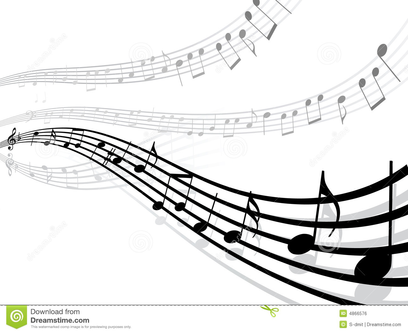 Musical Lines With Notes Royalty Free Stock Image Image