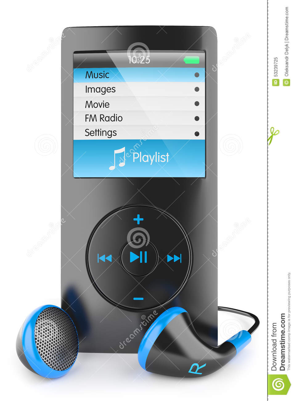 Mp3: Musical Mp3 Player Stock Illustration
