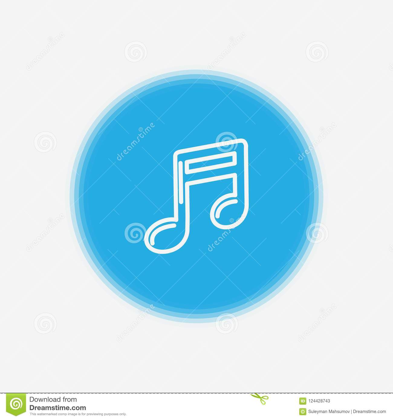 Musical Note Icon Sign Symbol Stock Vector Illustration Of Element