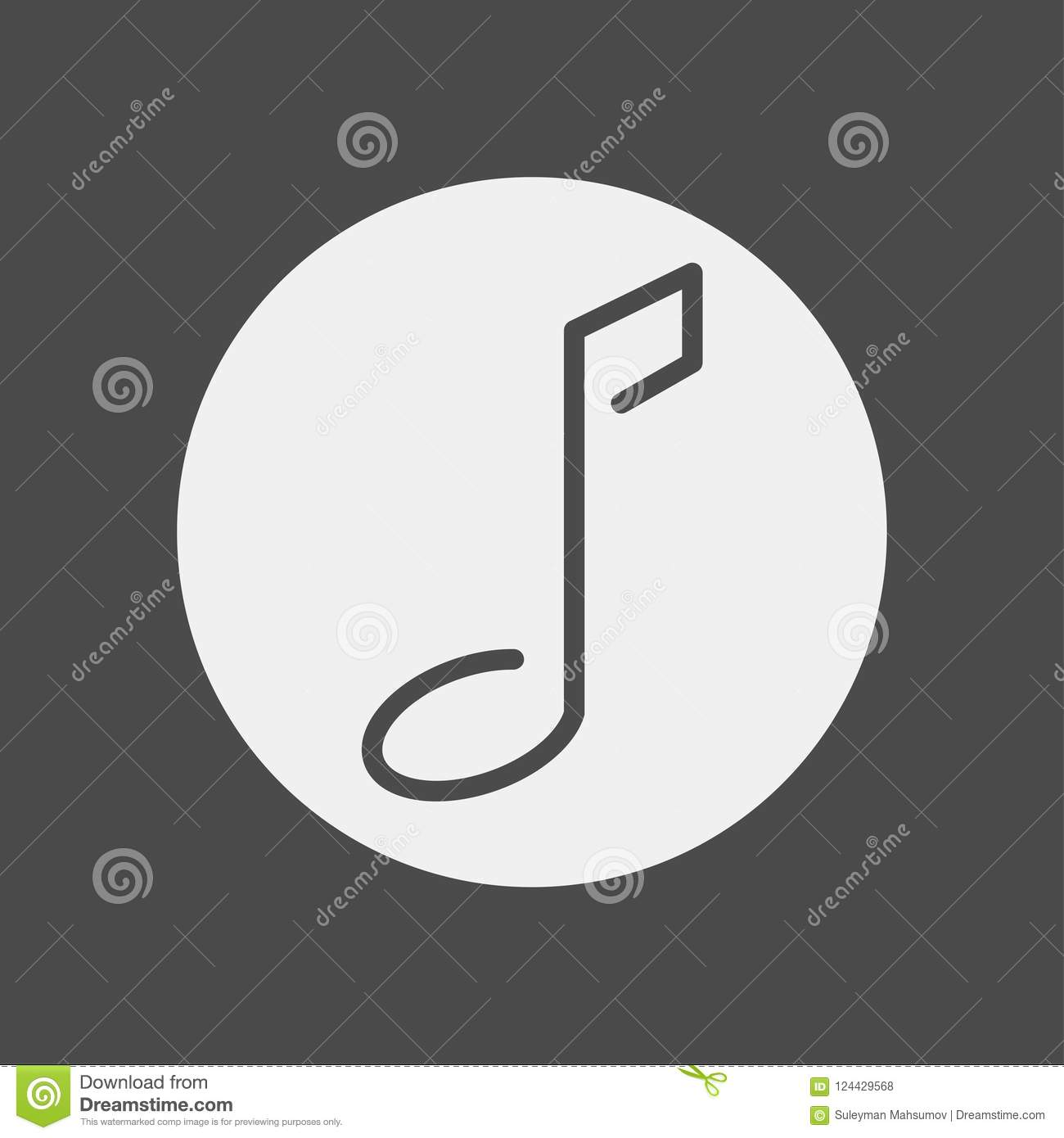 Musical Note Icon Sign Symbol Stock Vector Illustration Of Musical