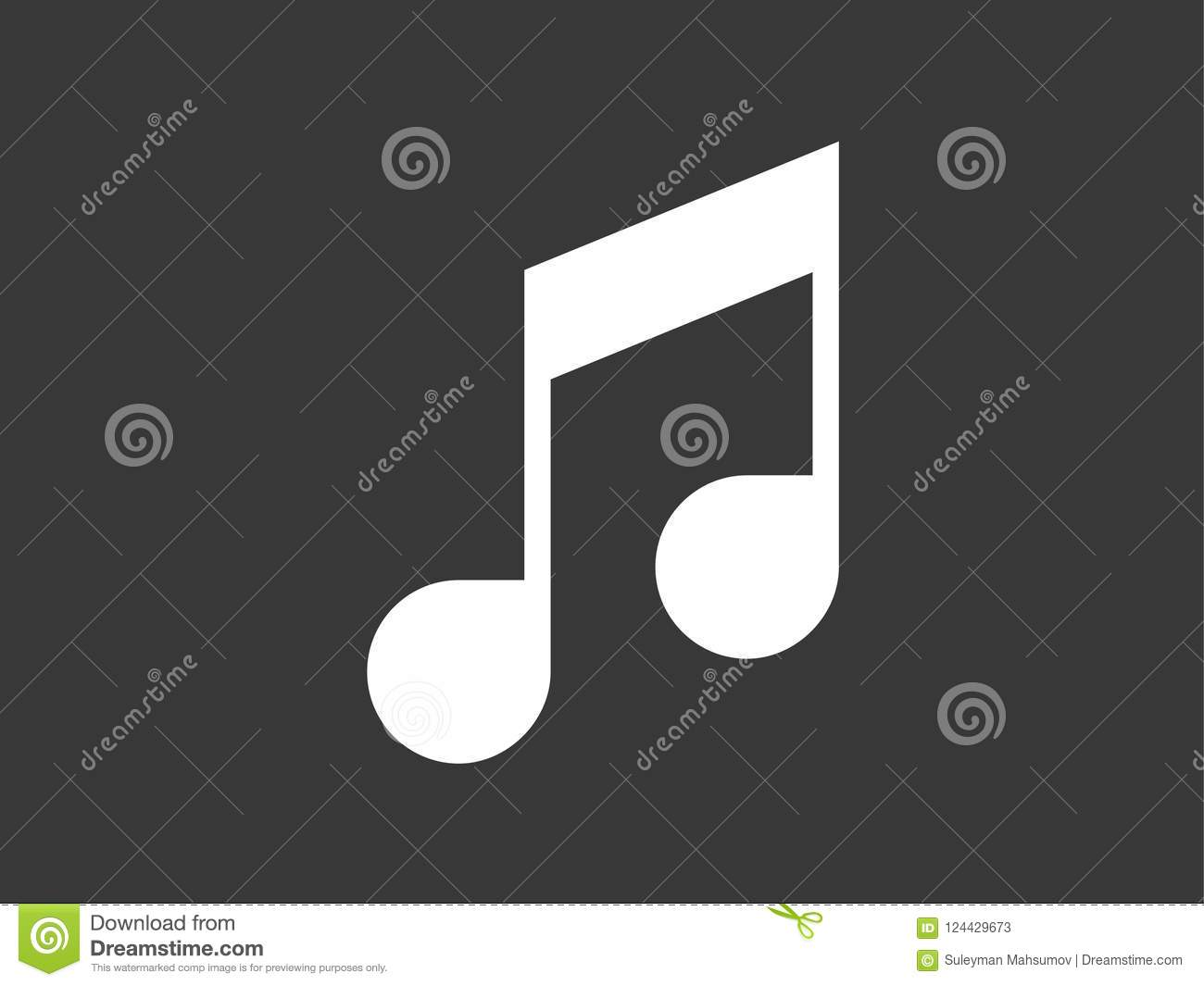 Musical Note Icon Sign Symbol Stock Vector Illustration Of
