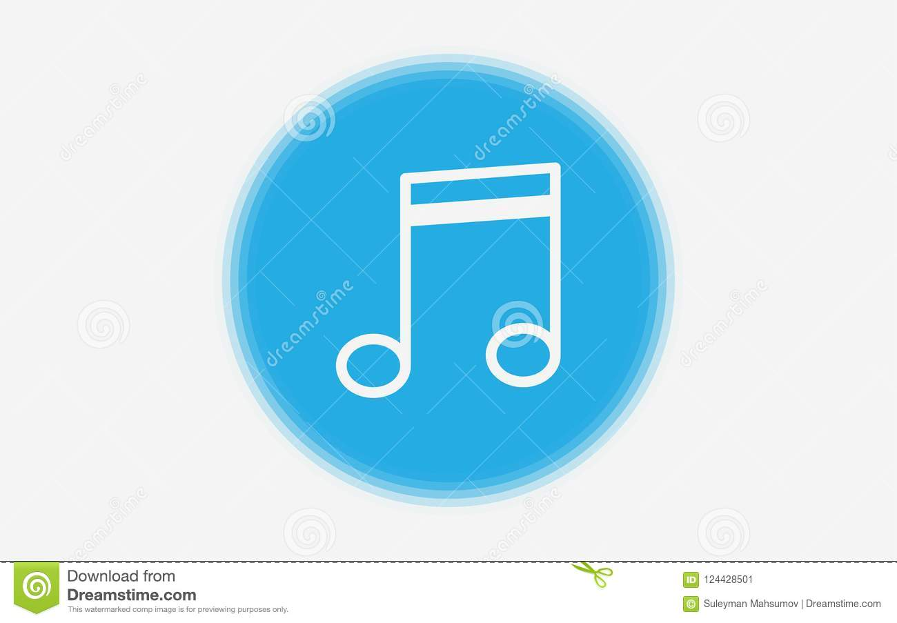 Musical Note Icon Sign Symbol Stock Vector Illustration Of Graphic