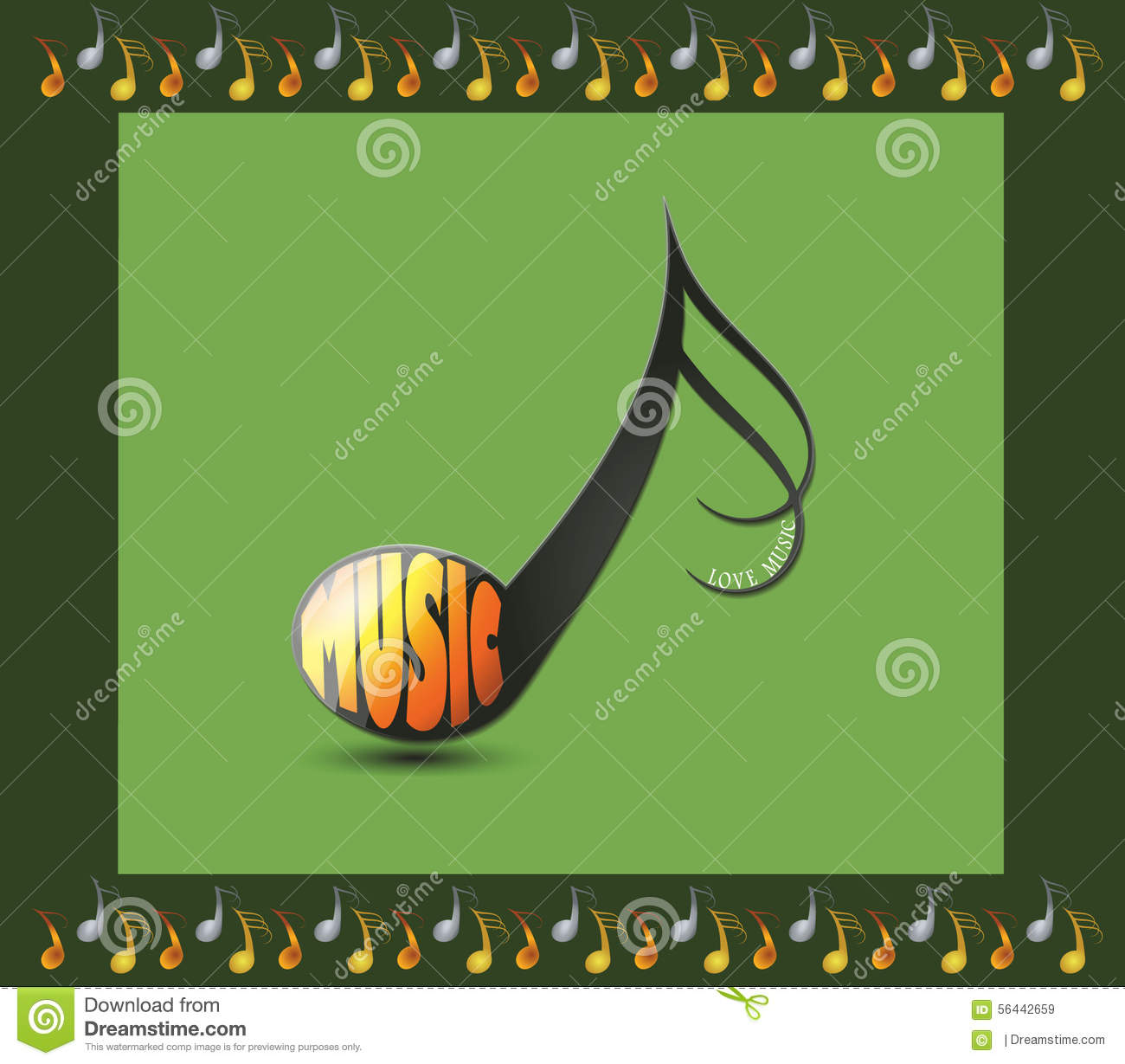 download musical note with the word music stock illustration illustration of creative musical