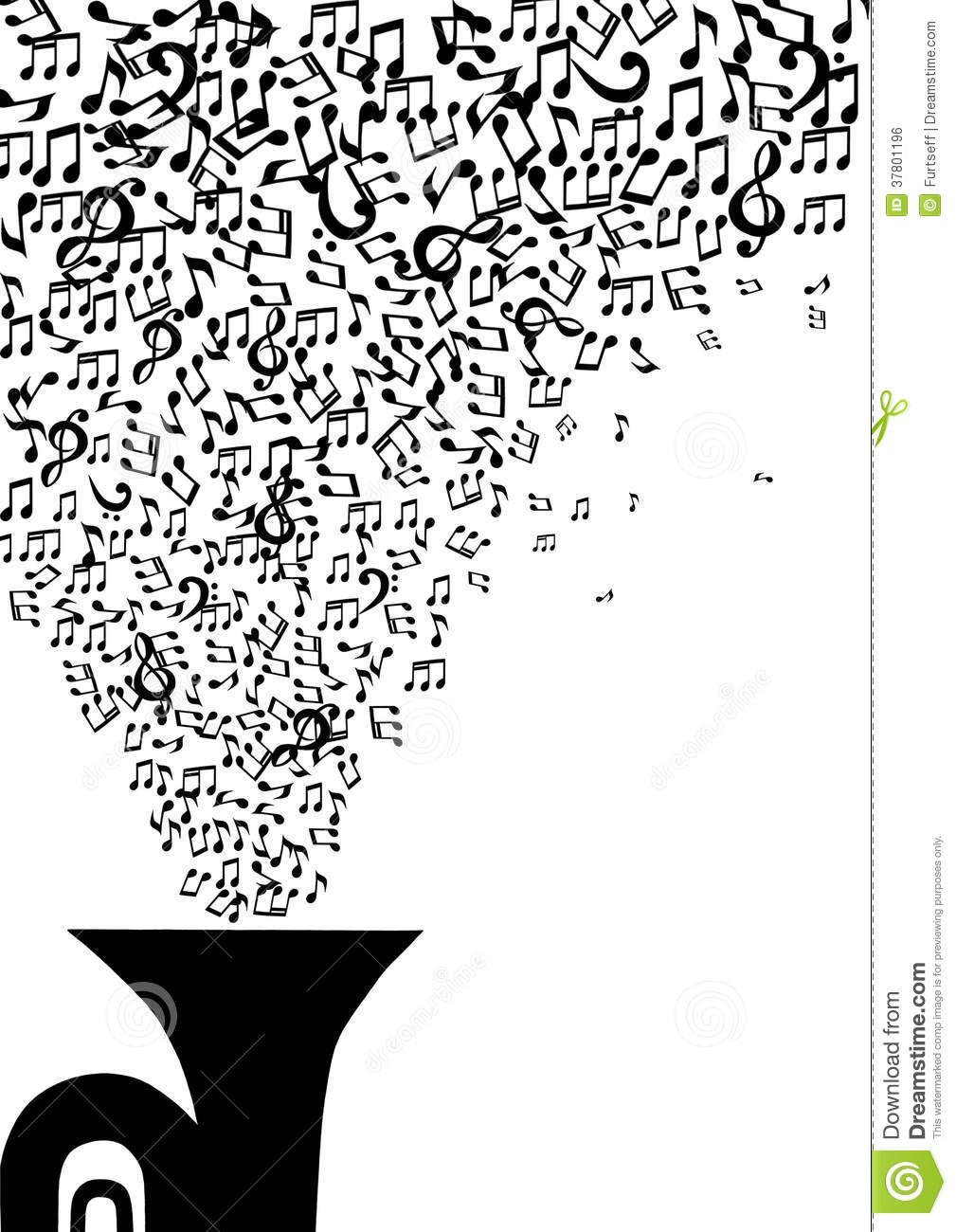 Black And White Music Notes Background Musical Notes Flying O...