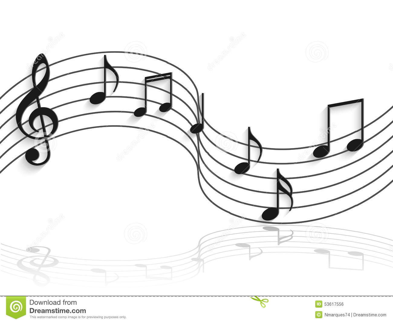 Musical Notes Illustration stock vector. Illustration of ...