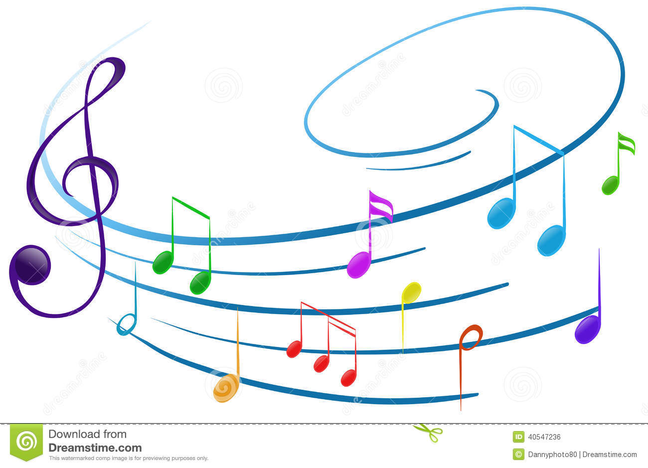 Musical Notes Stock Vector. Illustration Of Clip, Half