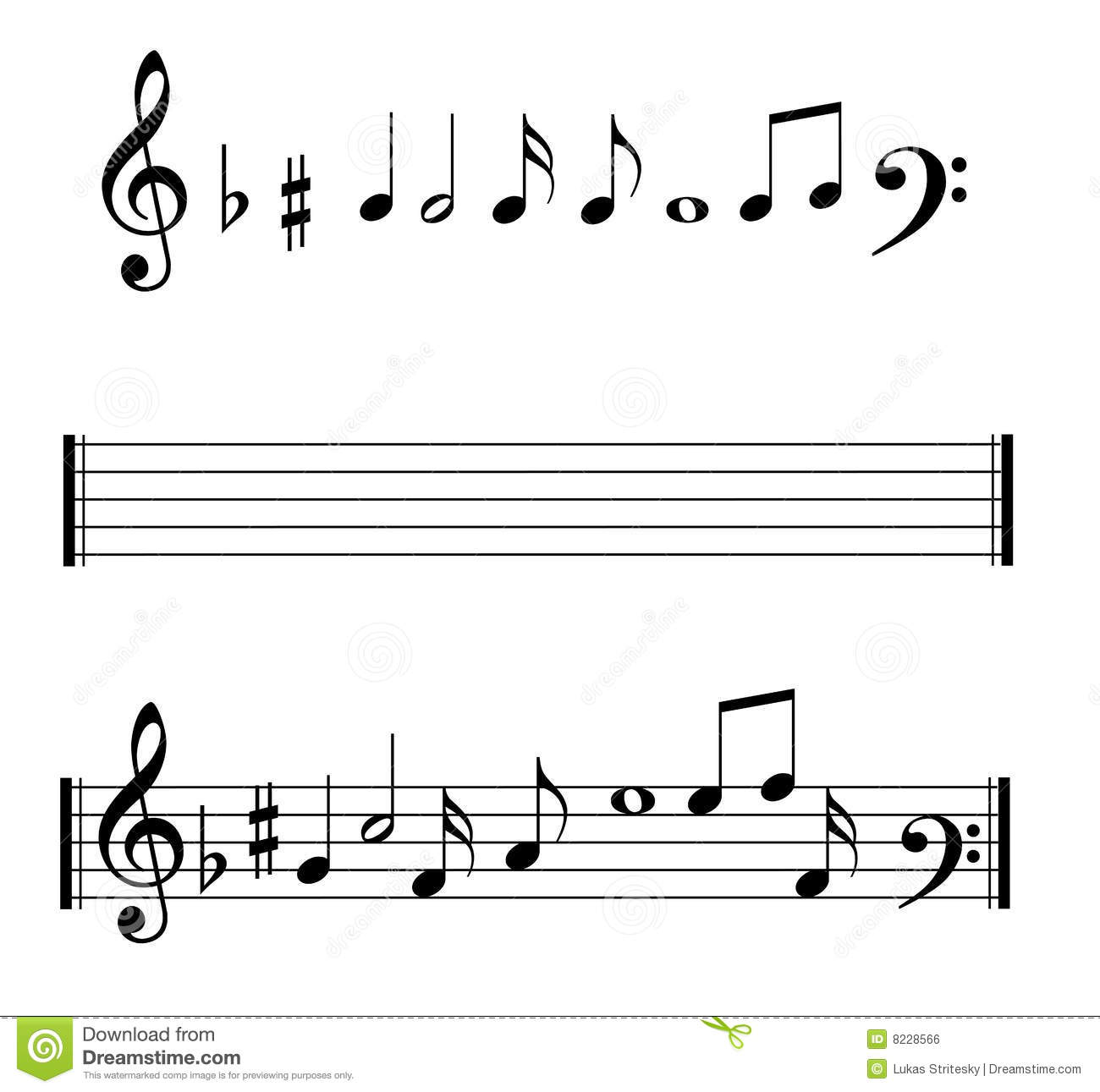 Musical Notes Symbols Set Stock Vector Illustration Of Clef 8228566