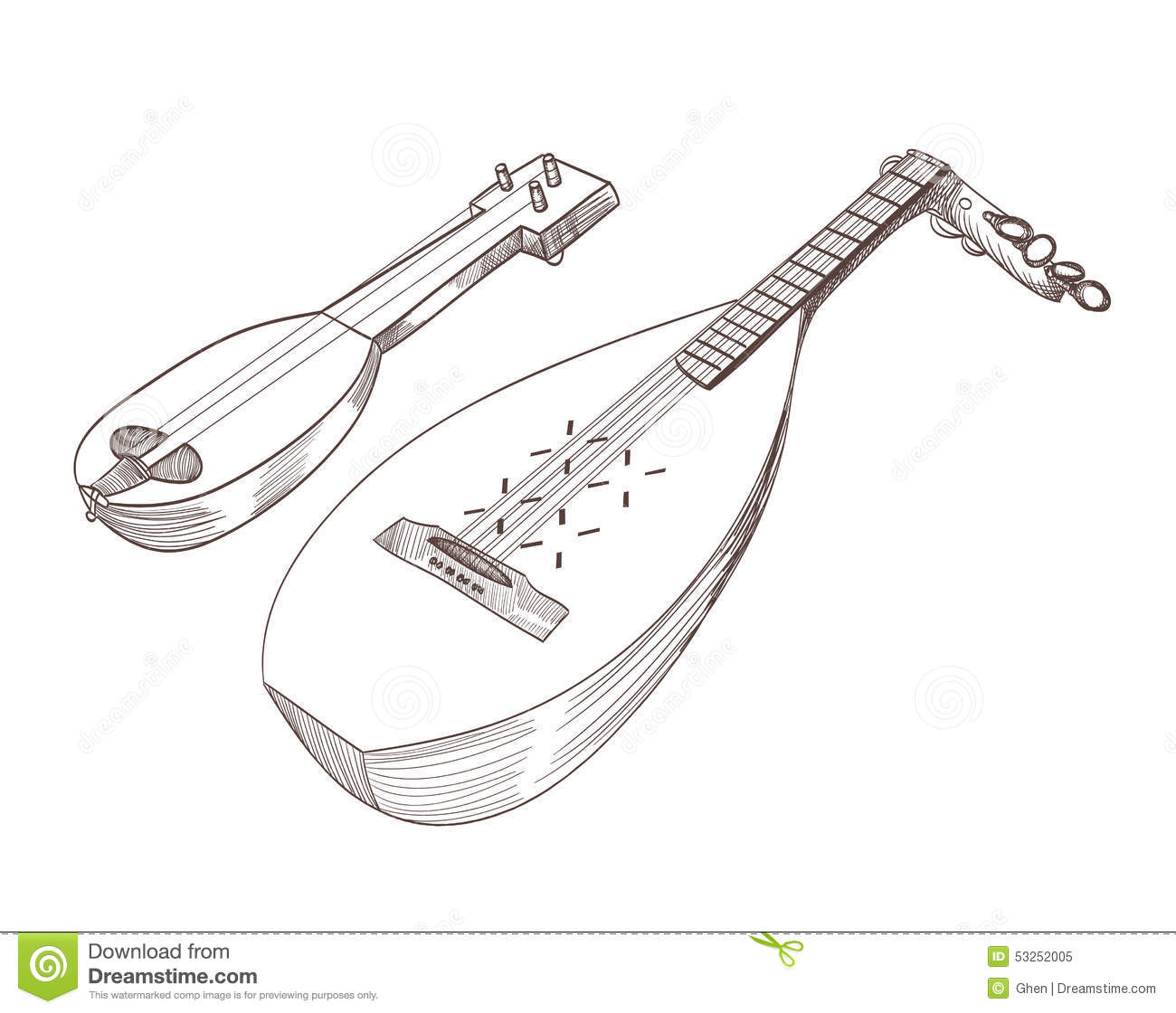 It is an image of Sly Musical Instruments Drawing