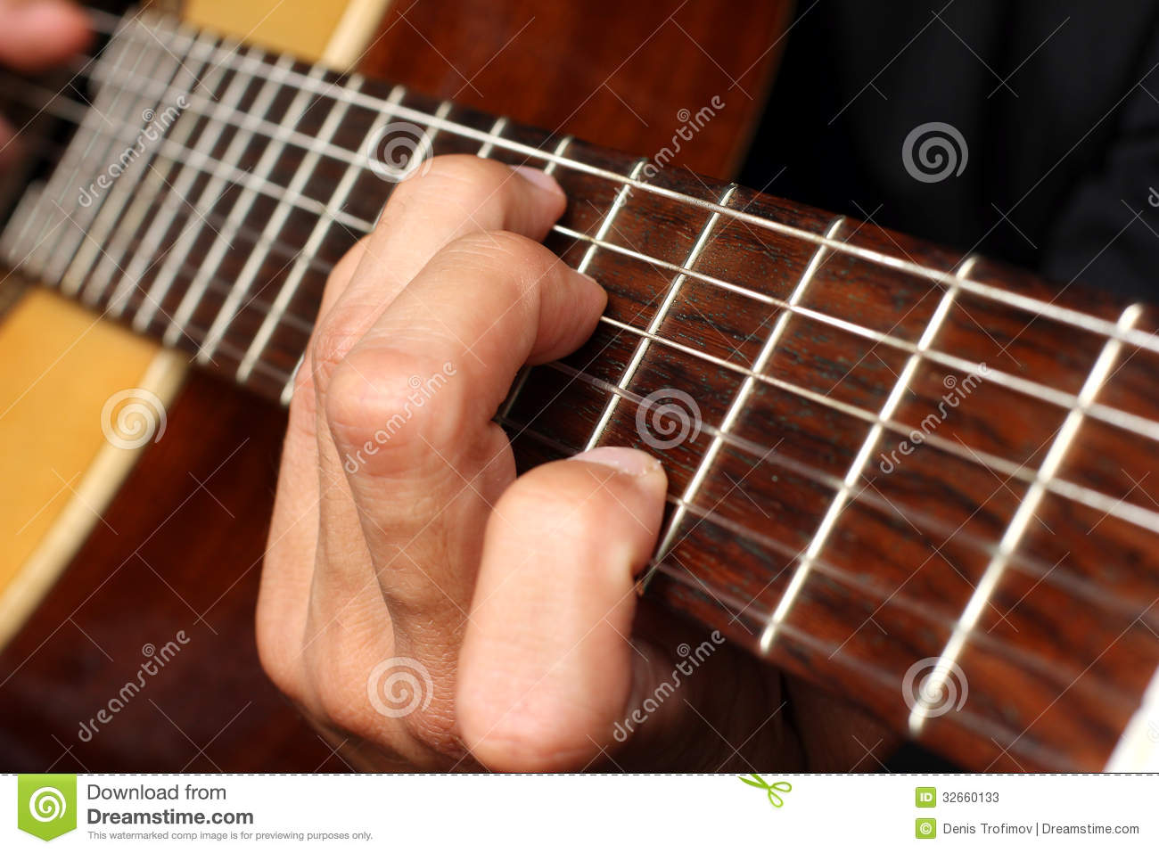 Musician Playing An Acoustic Guitar Stock Photos - Image ...