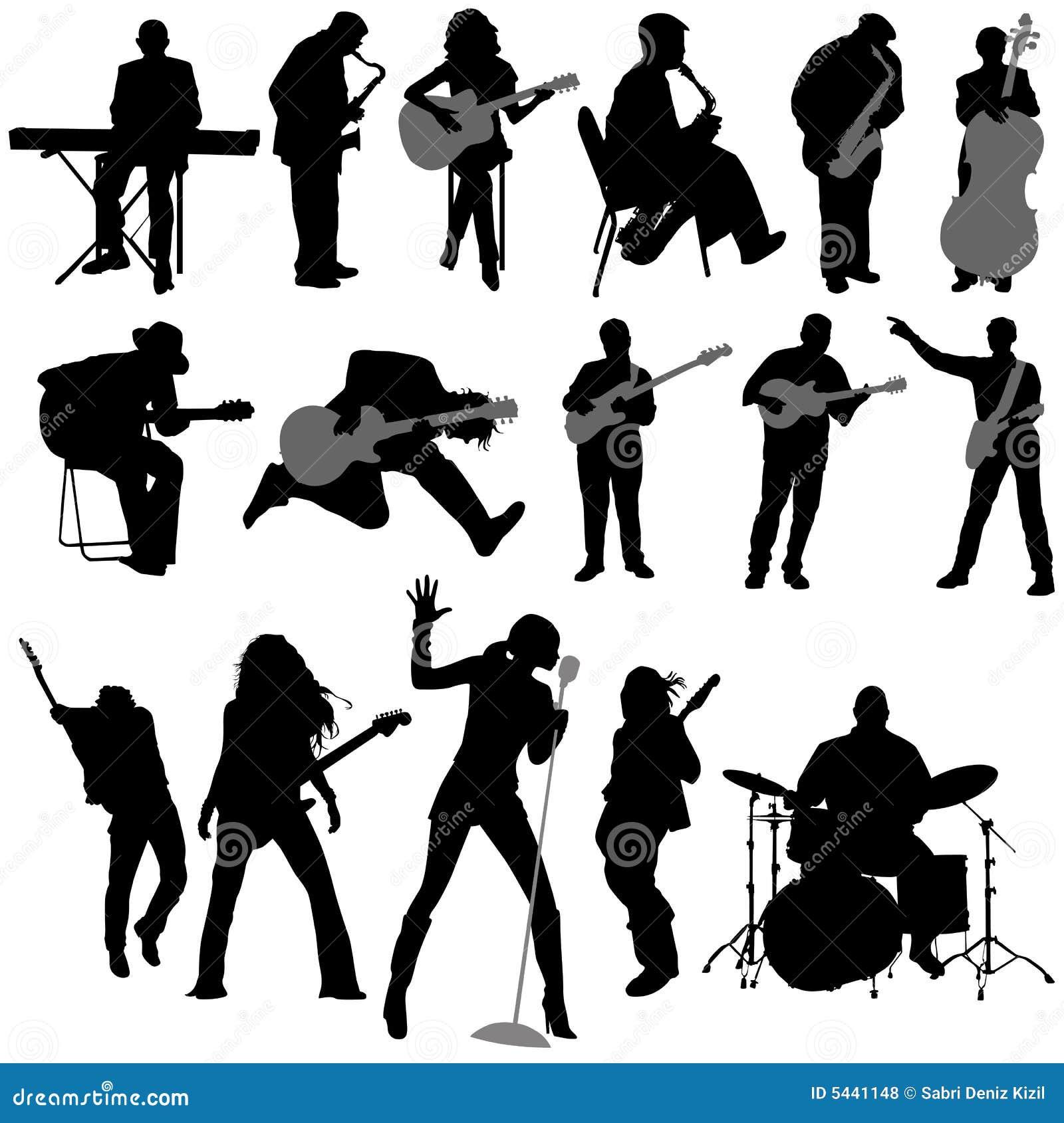 Musician vector stock vector. Illustration of guitar ...
