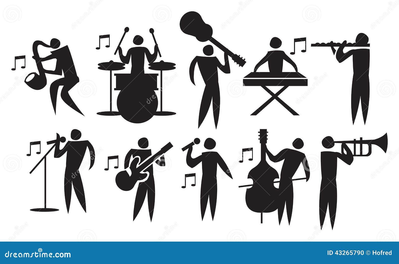 Musician Vector Icon Set Stock Image 43265790