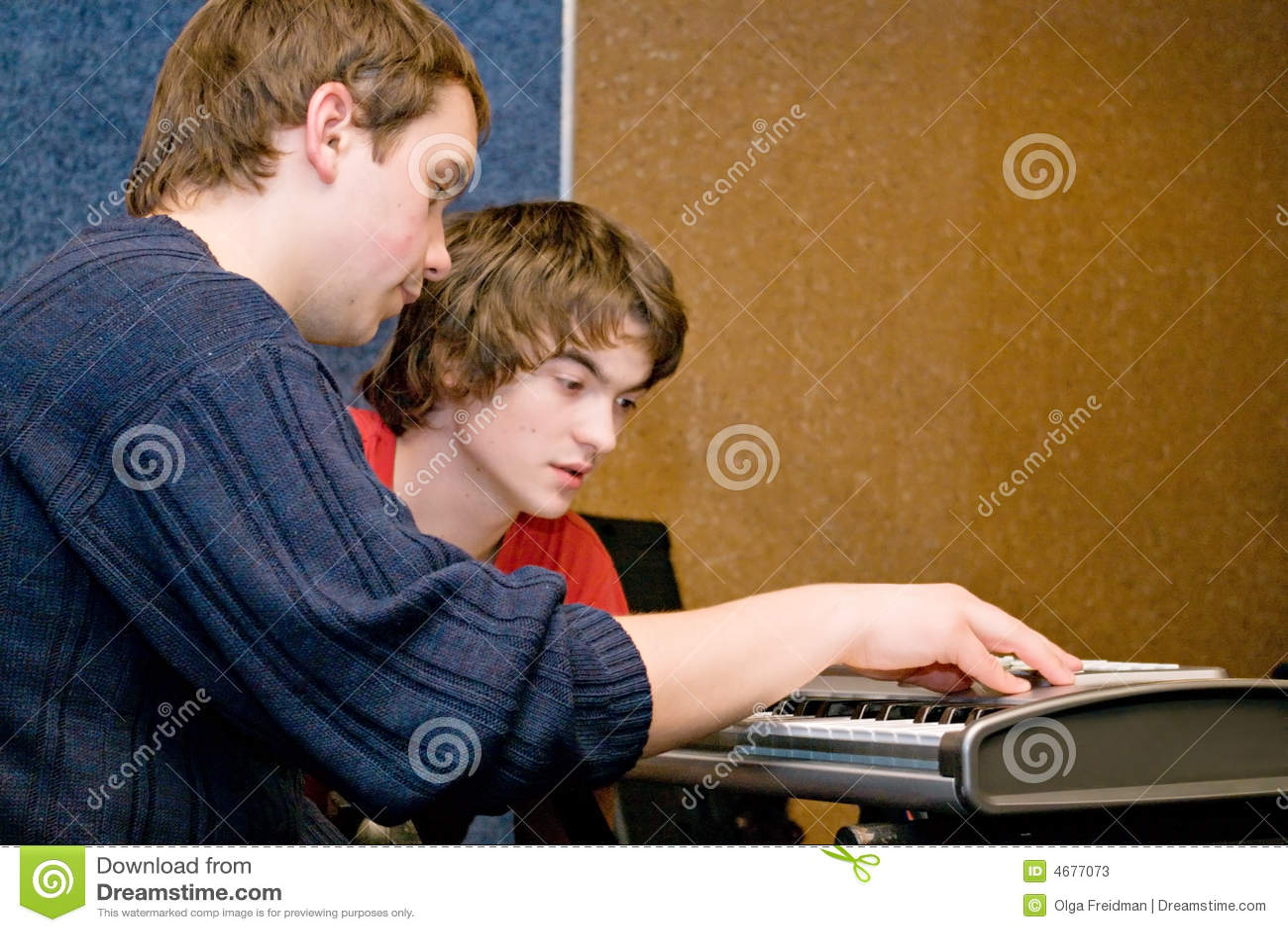 Musicians composing