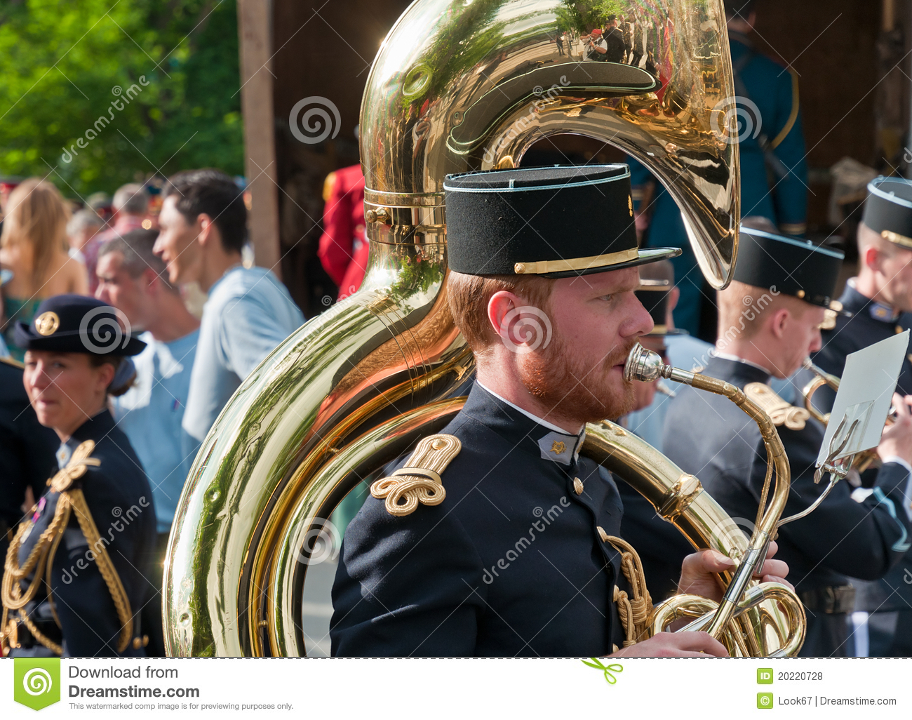 Musicians From French Army Signal Corps Band Editorial Stock Photo