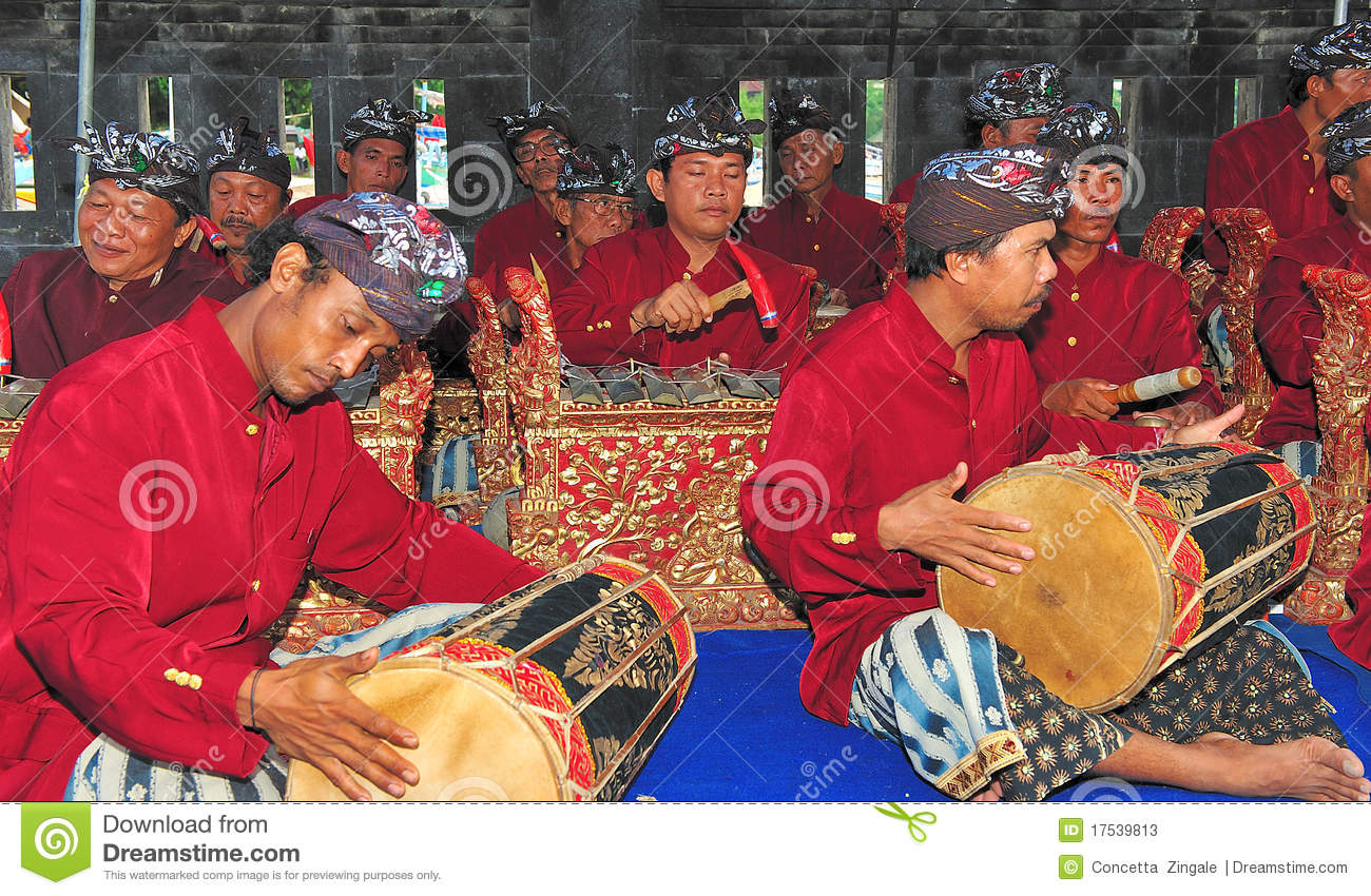 Musicians on the island of bali