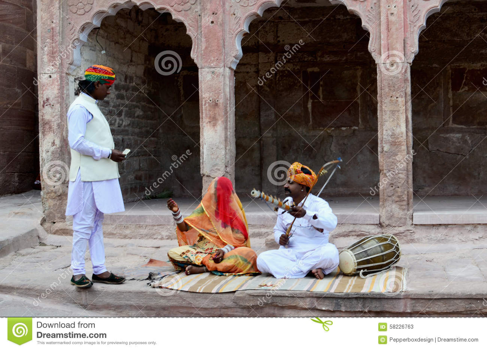 Musicians at Meherangarh Fort, Jodhpur, India