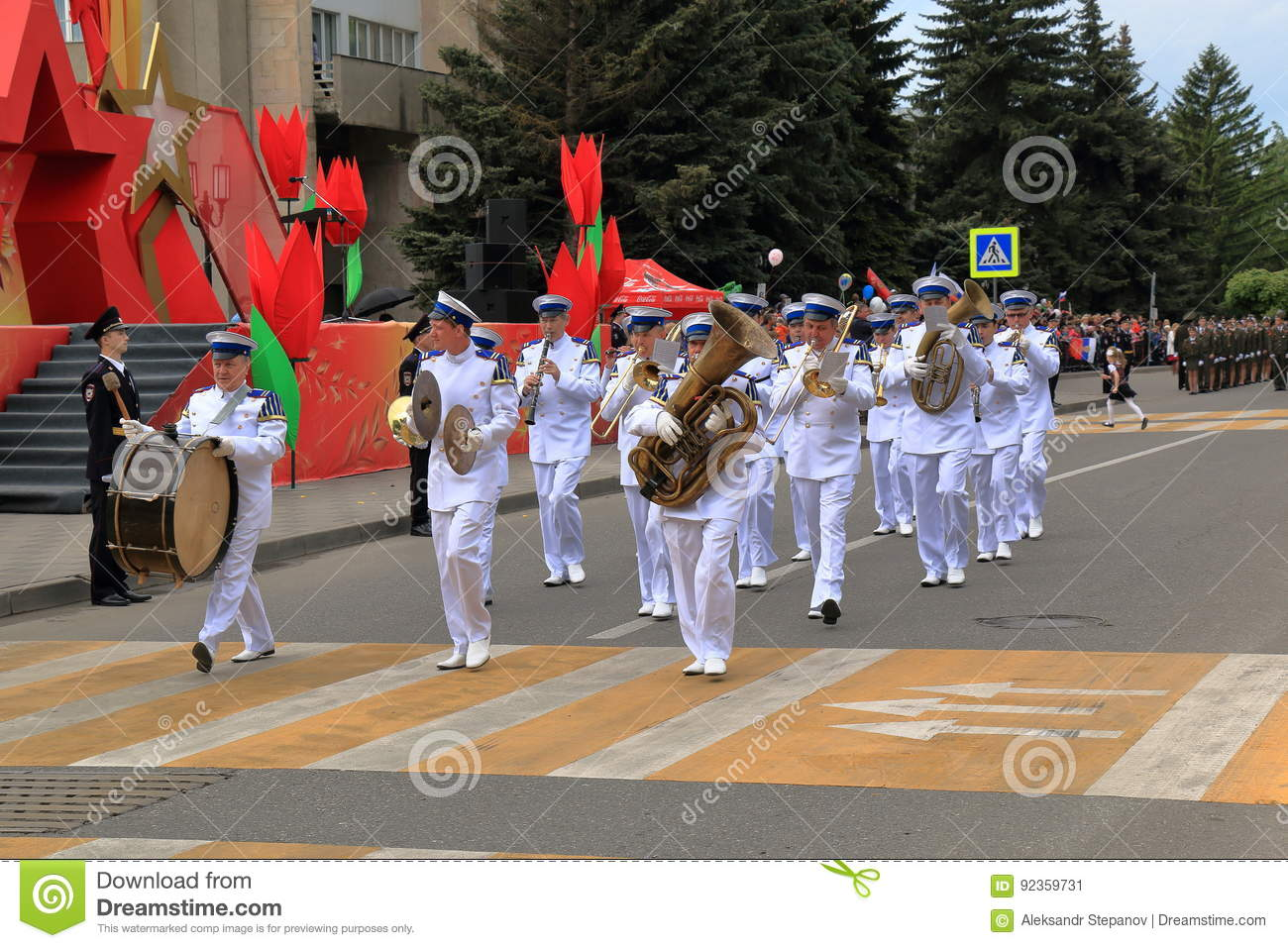 Musicians Of The Military Orchestra Is Marched In The Parade