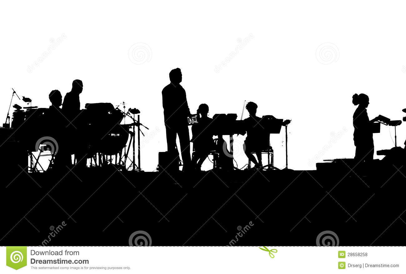 Musicians Of Rock Band Playing On IPads Royalty Free Stock ...