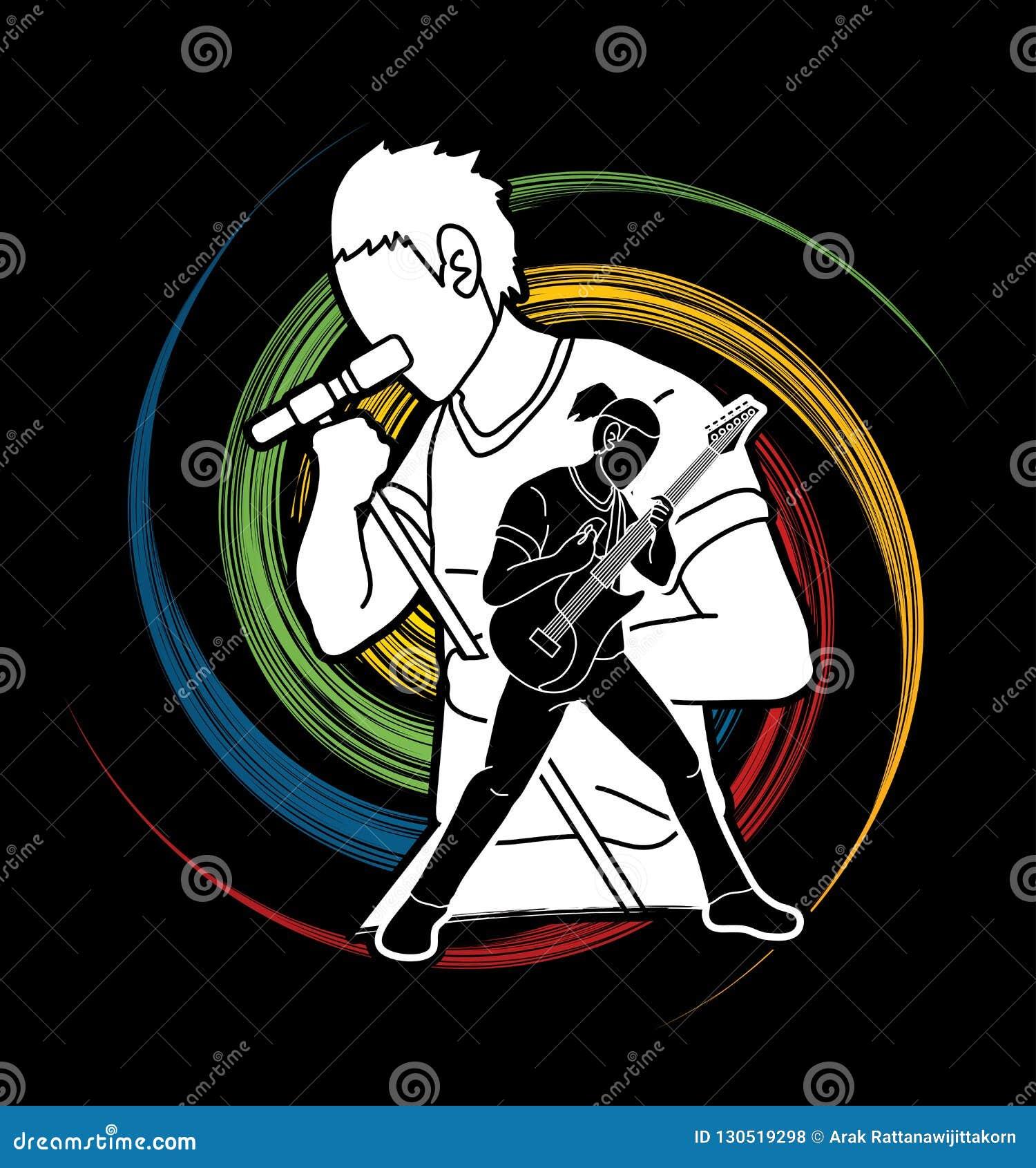 Musicien jouant la musique ensemble, bande de musique, artiste