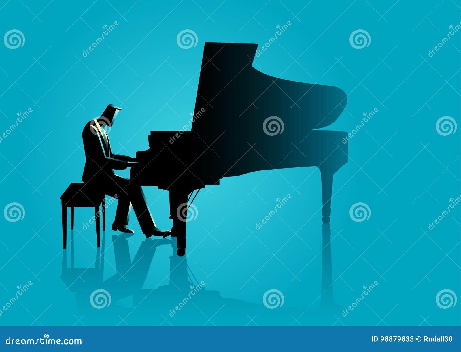 Musicus het spelen piano