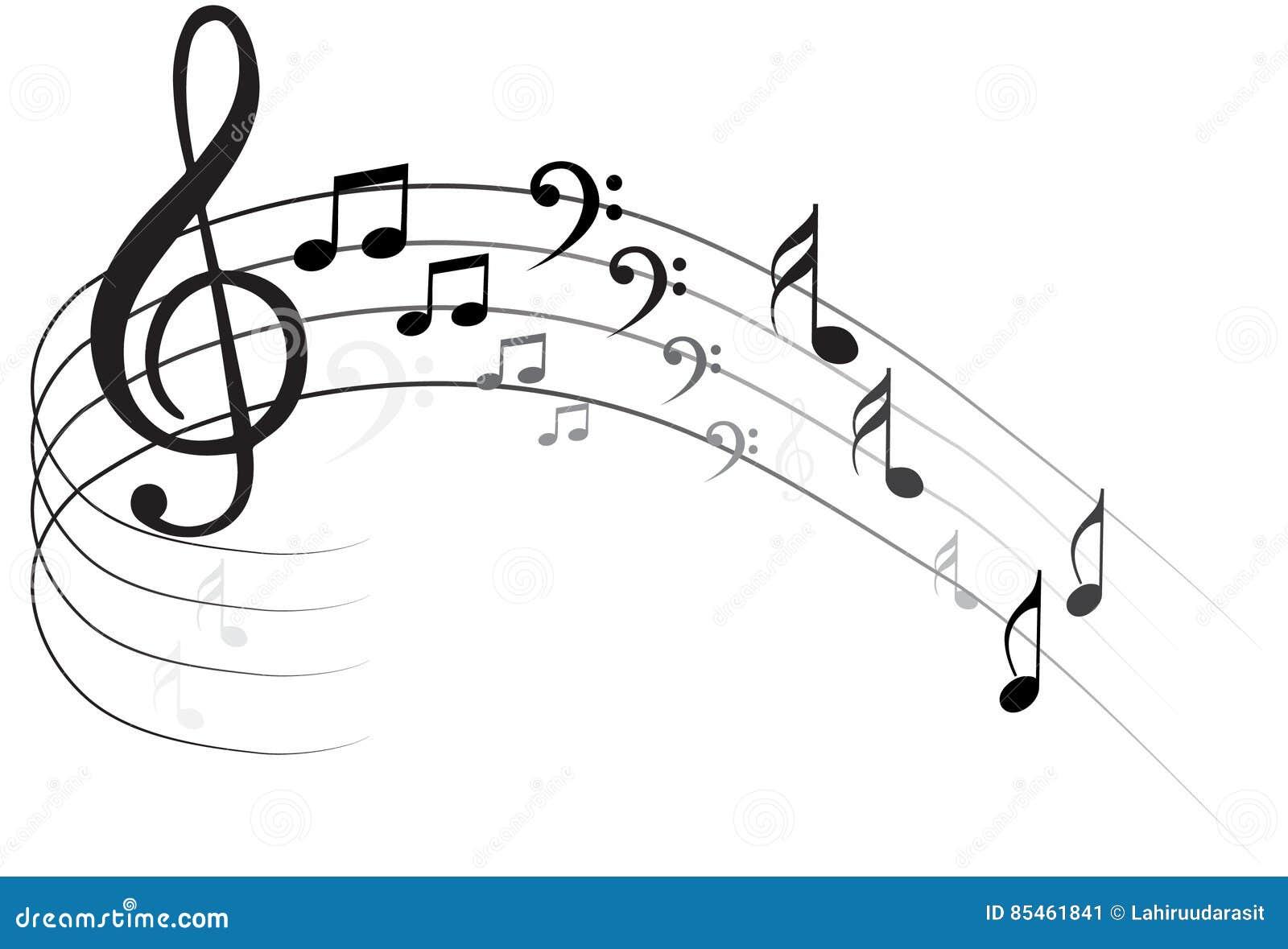 Musik-Anmerkung Backgraund