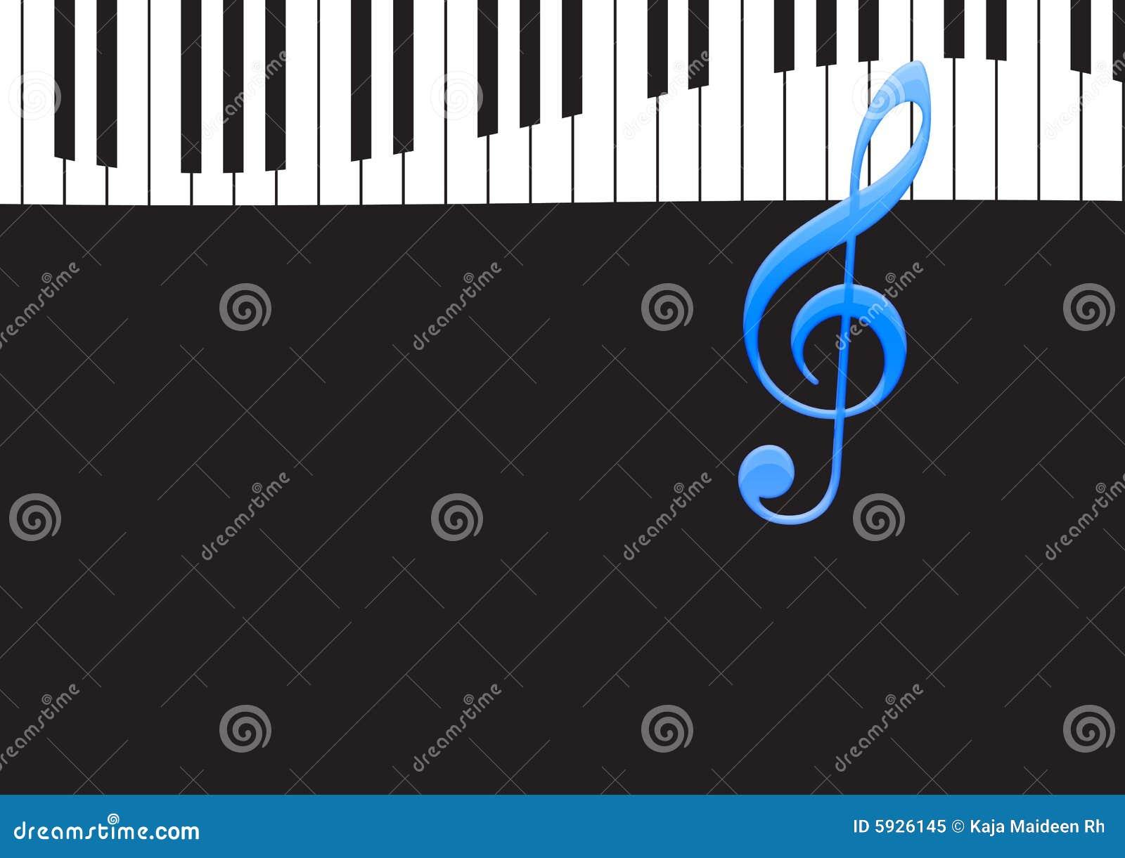 Musik-Anmerkung Und Wellenförmige Klaviertastatur Stock Abbildung ...