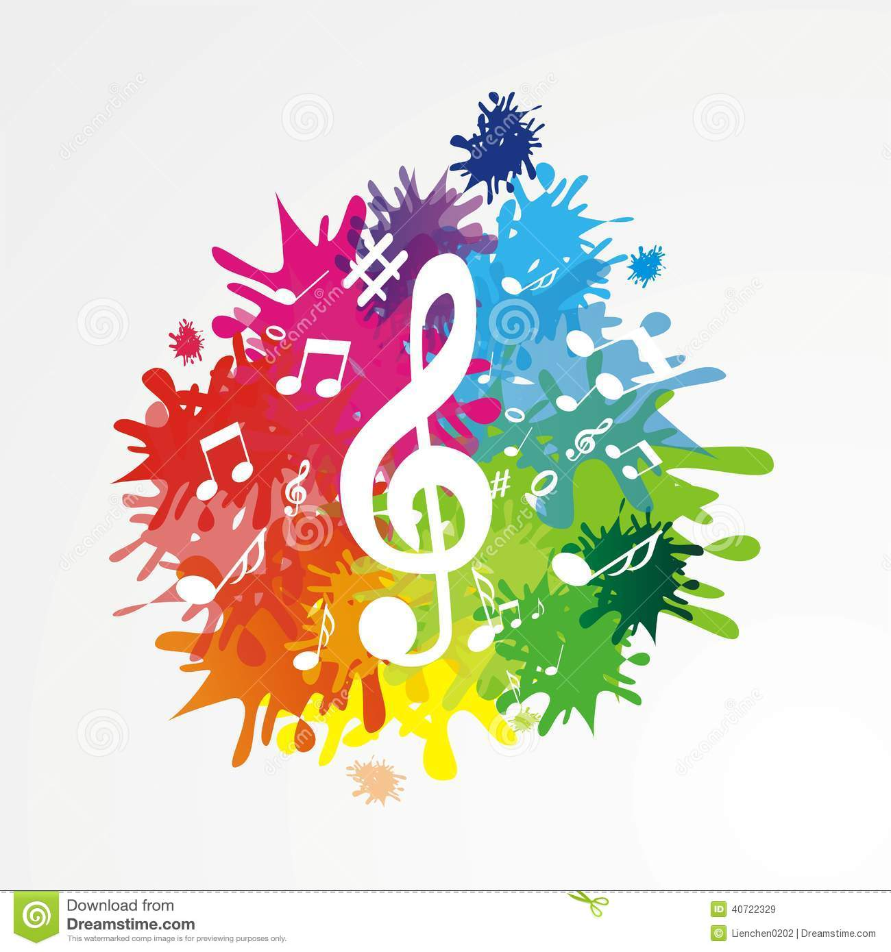 Dark Gray Paint Musik Background With Notes Stock Vector Image 40722329