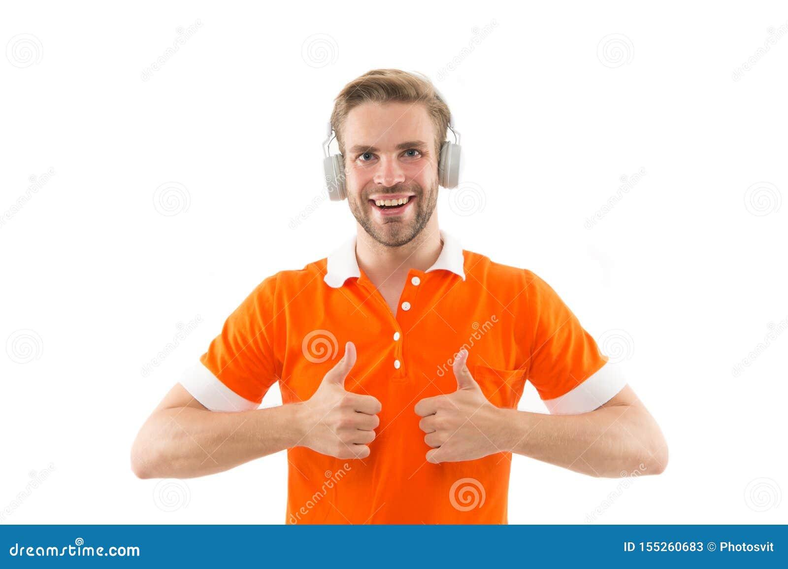Musik f?r bra lynne Favorit- musikband Tycka om s?ng Ljudsignalt sp?r Hörlurar för musik för stilig orakad hipster för man lyssna