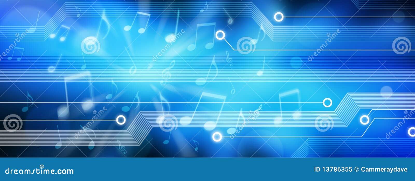 Musik-Hintergrund-Panorama