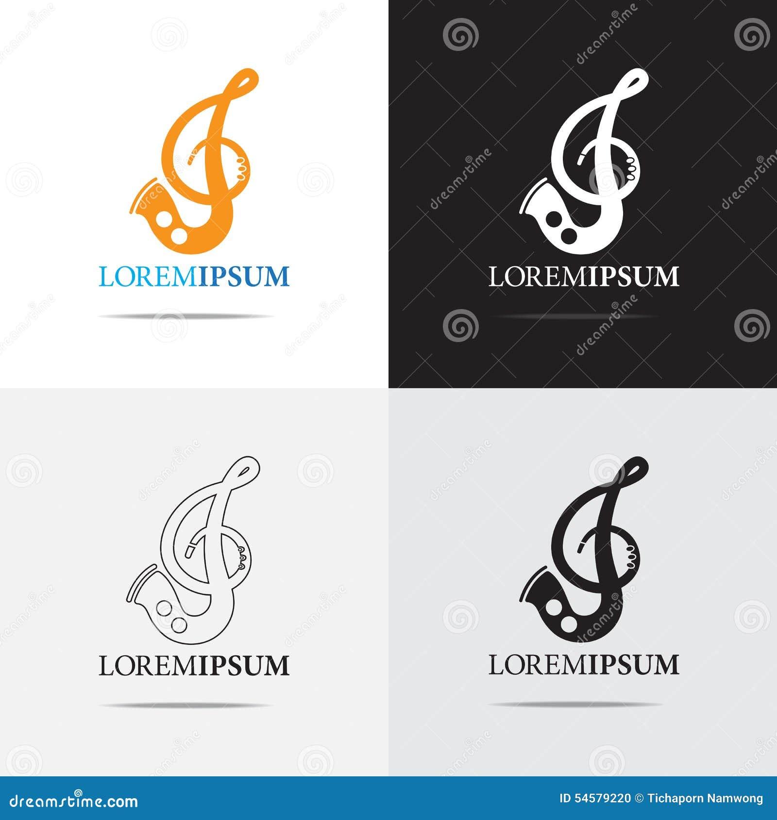 Musik-Instrument und Anmerkung Logo Design