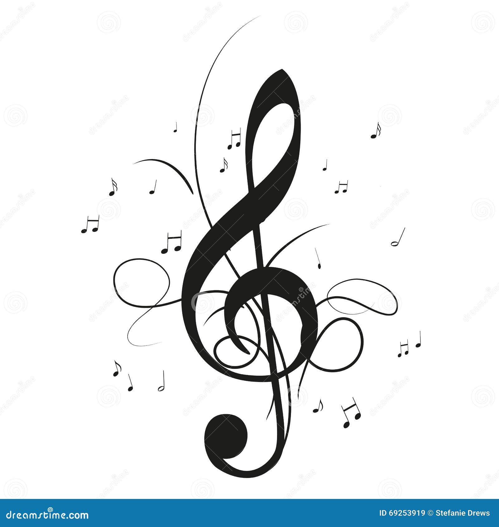 musik merkt notenschlüssel vektor abbildung illustration