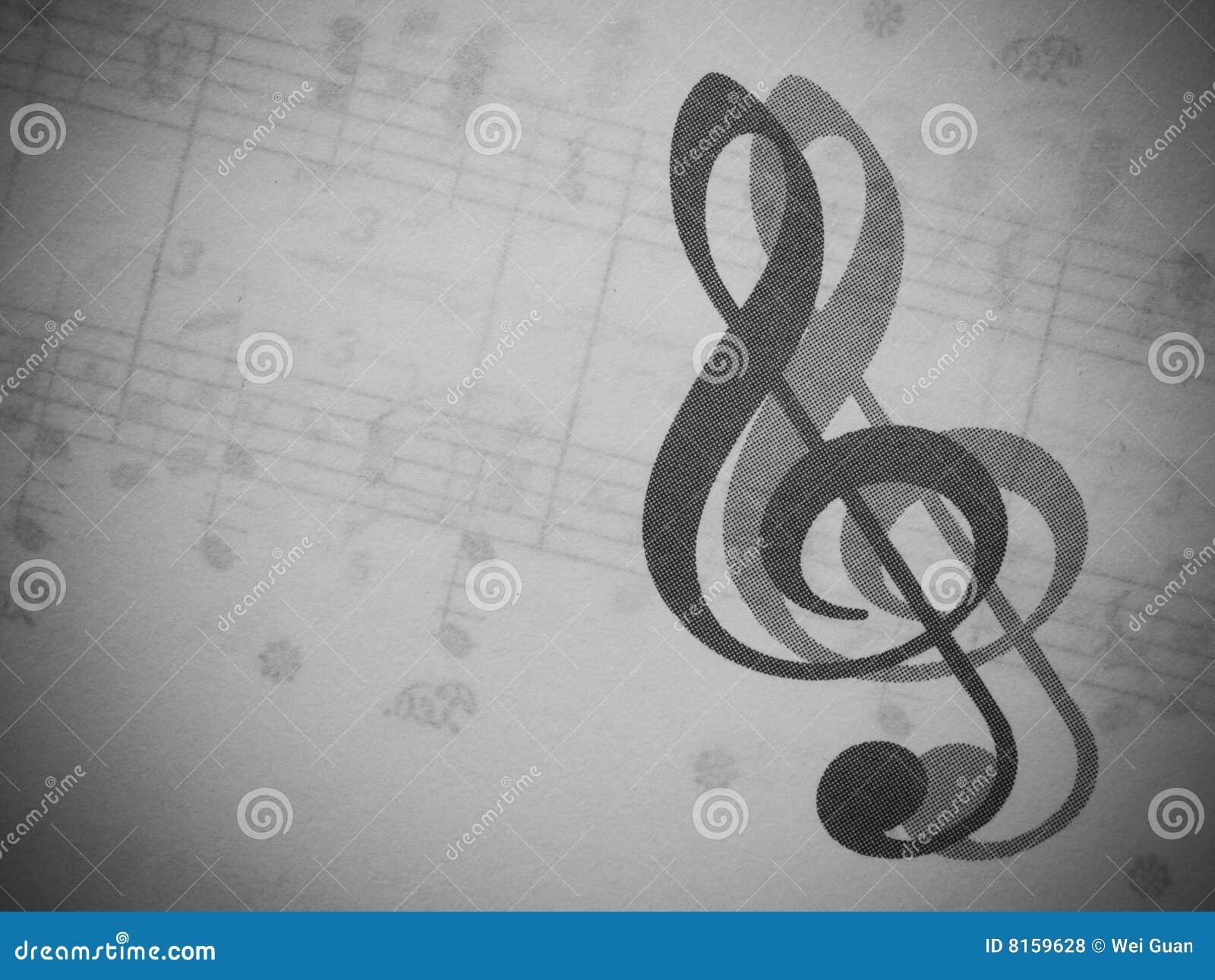 Musik und dreifacher Clef