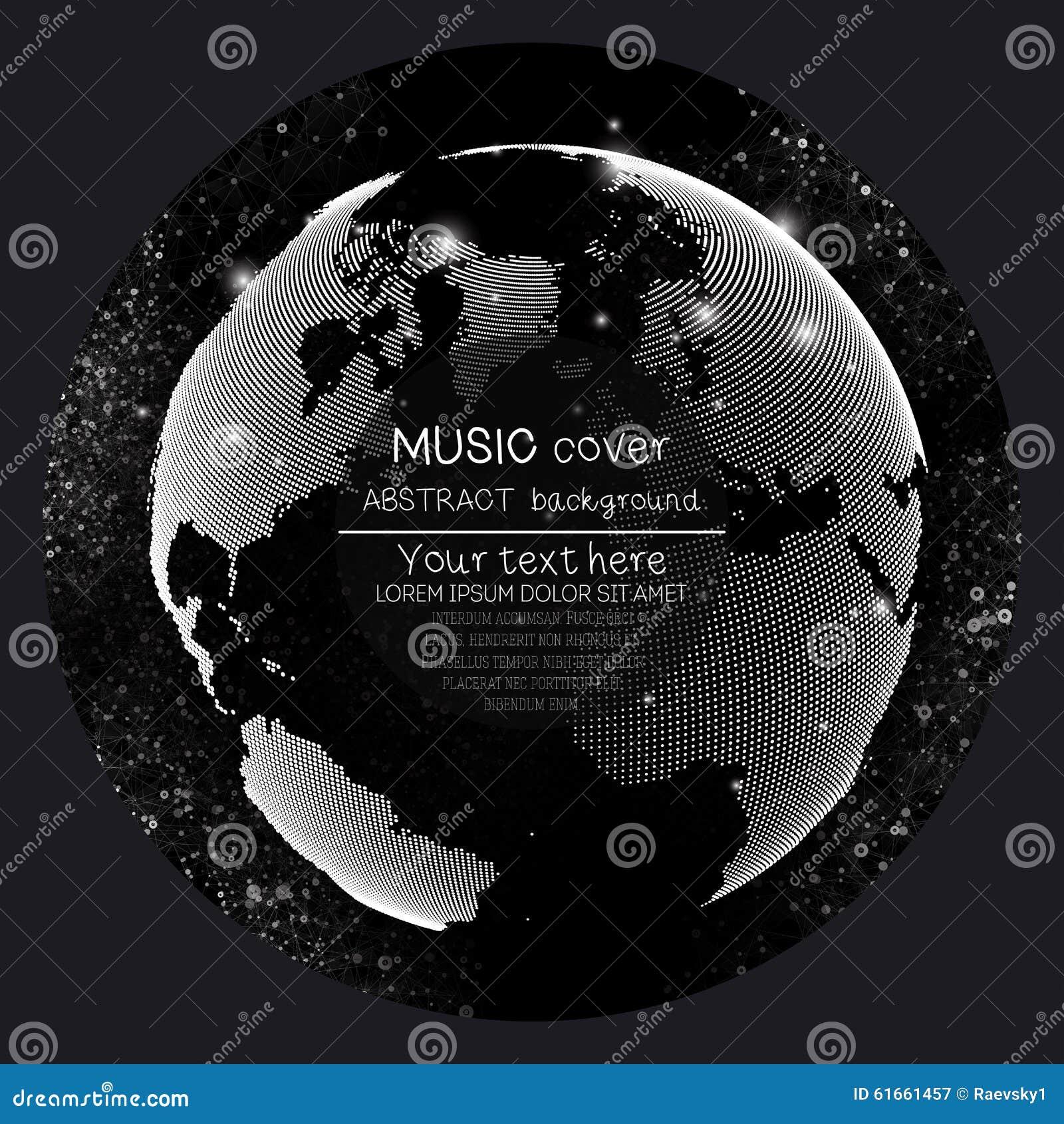 Musikalbum-Abdeckung Schabloneen Weltkugel, global