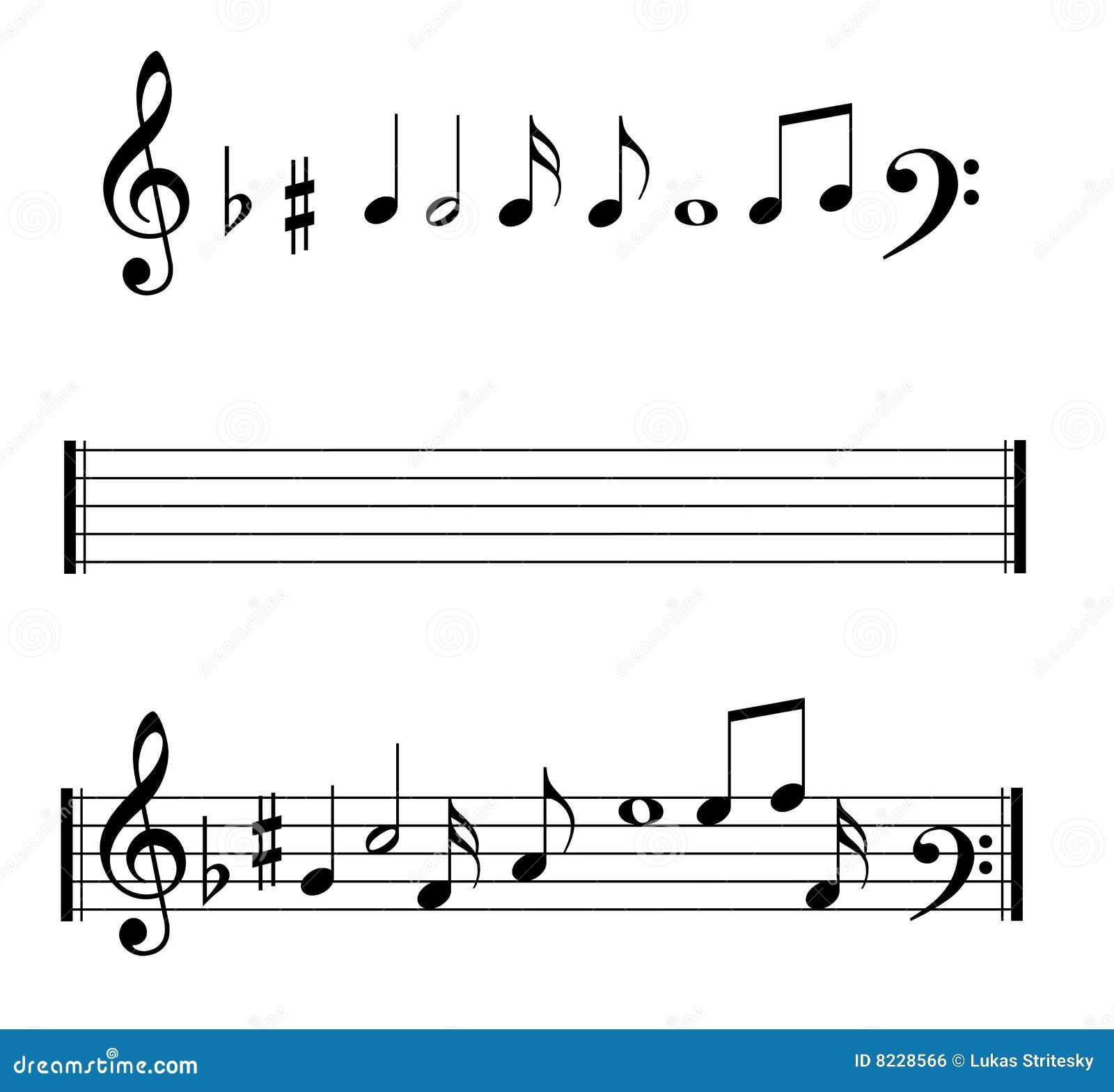 Musikalen bemärker set symboler