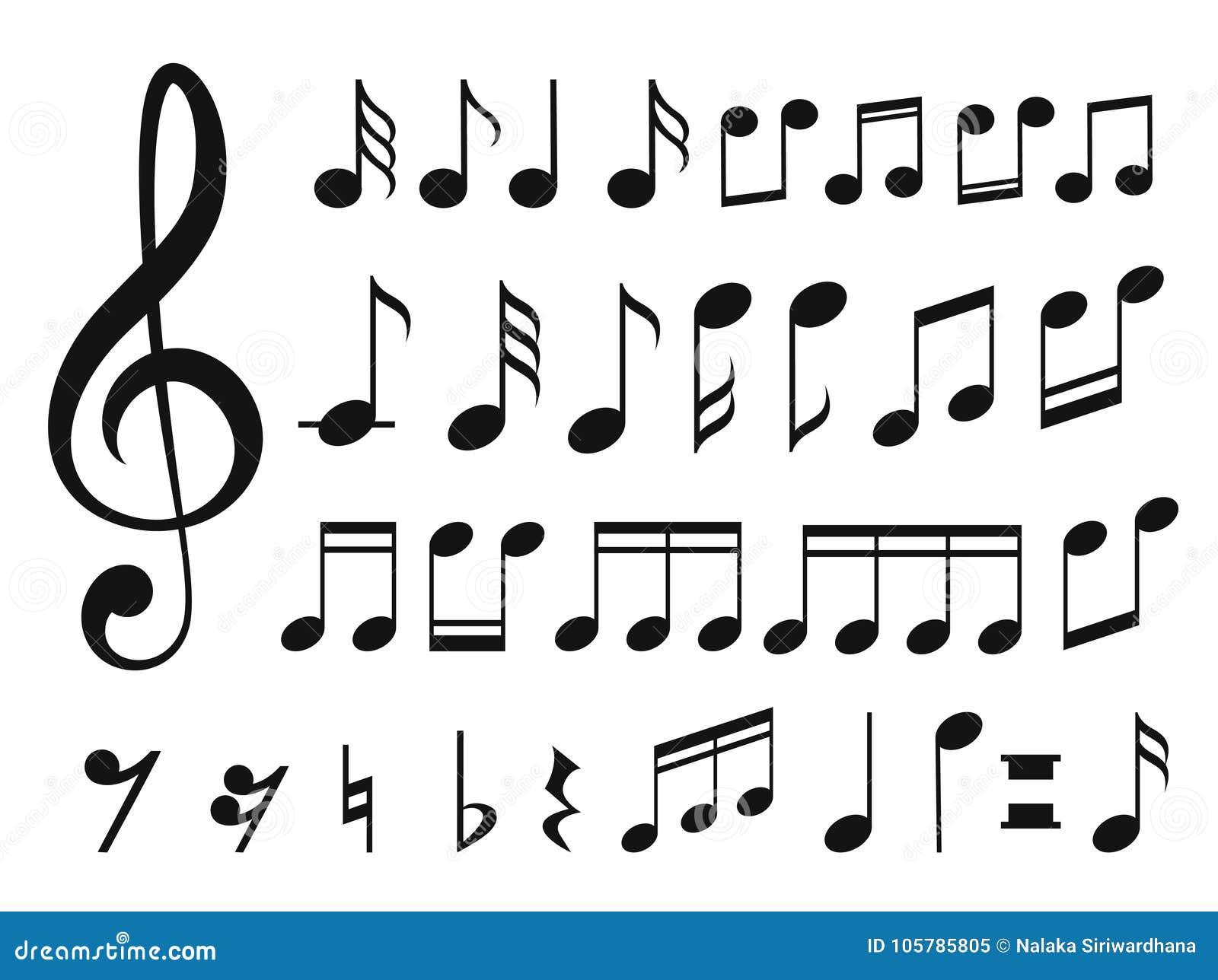 Musikanmärkningar med vågor