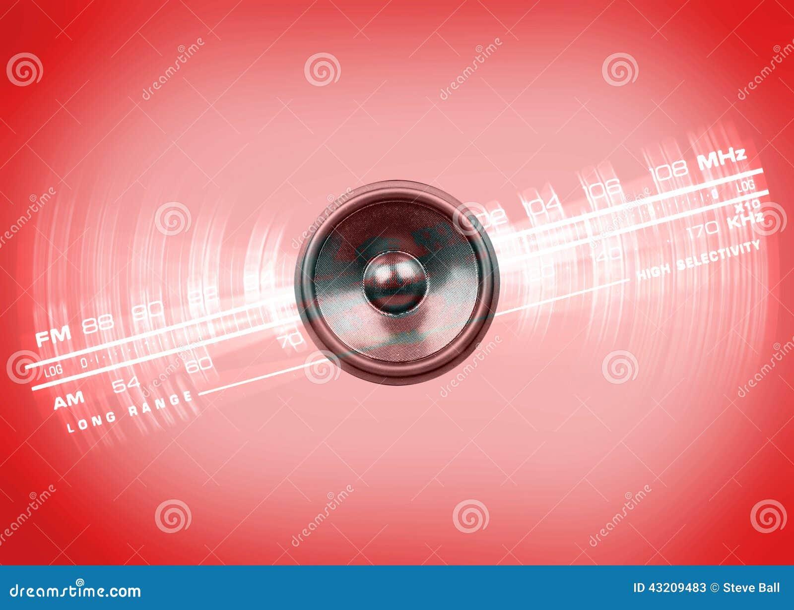 Download Musikhögtalare Och Radiovisartavla Stock Illustrationer - Illustration av musik, karaktärsteckning: 43209483