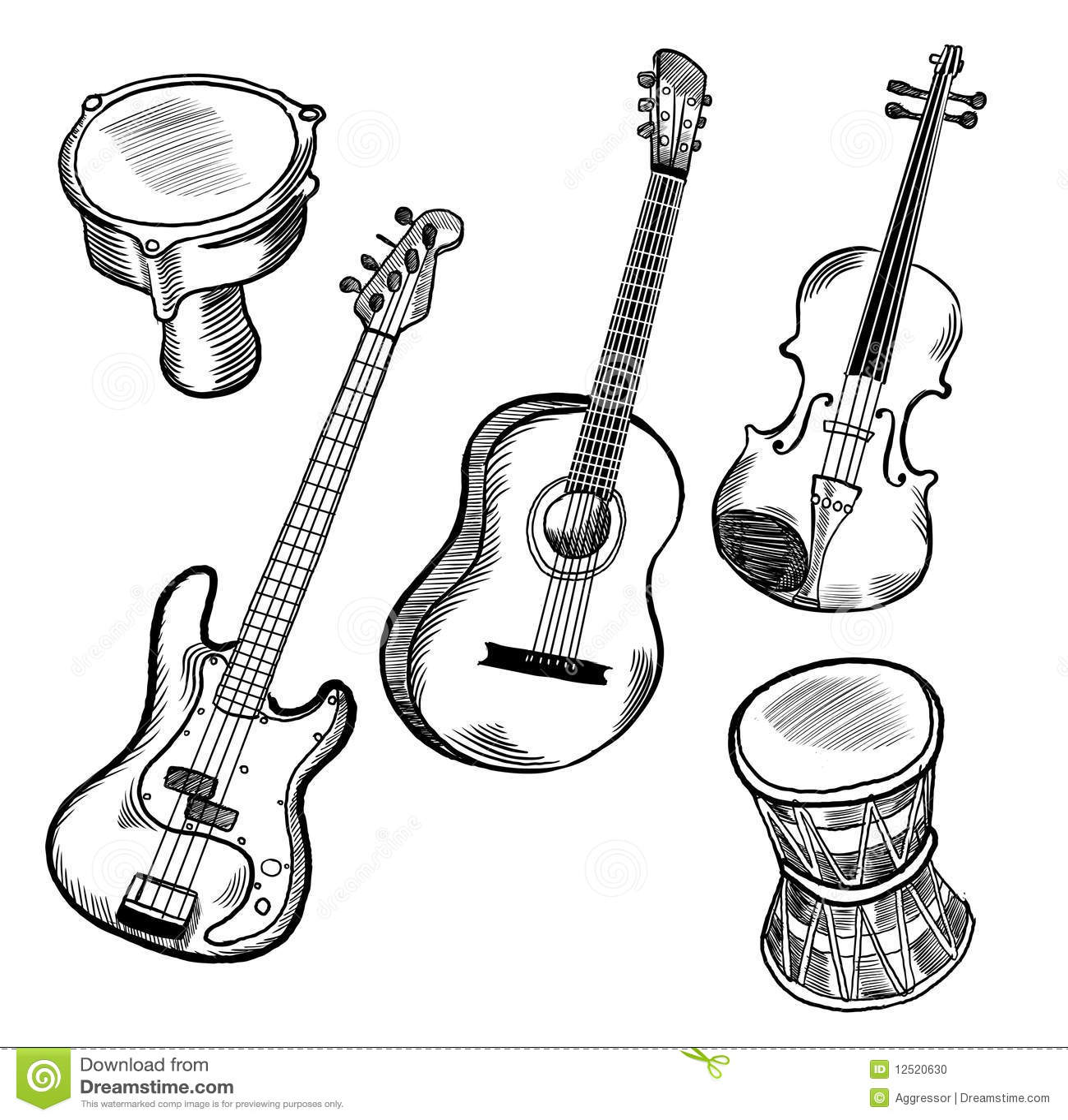 musikinstrumente stockfoto  bild 12520630