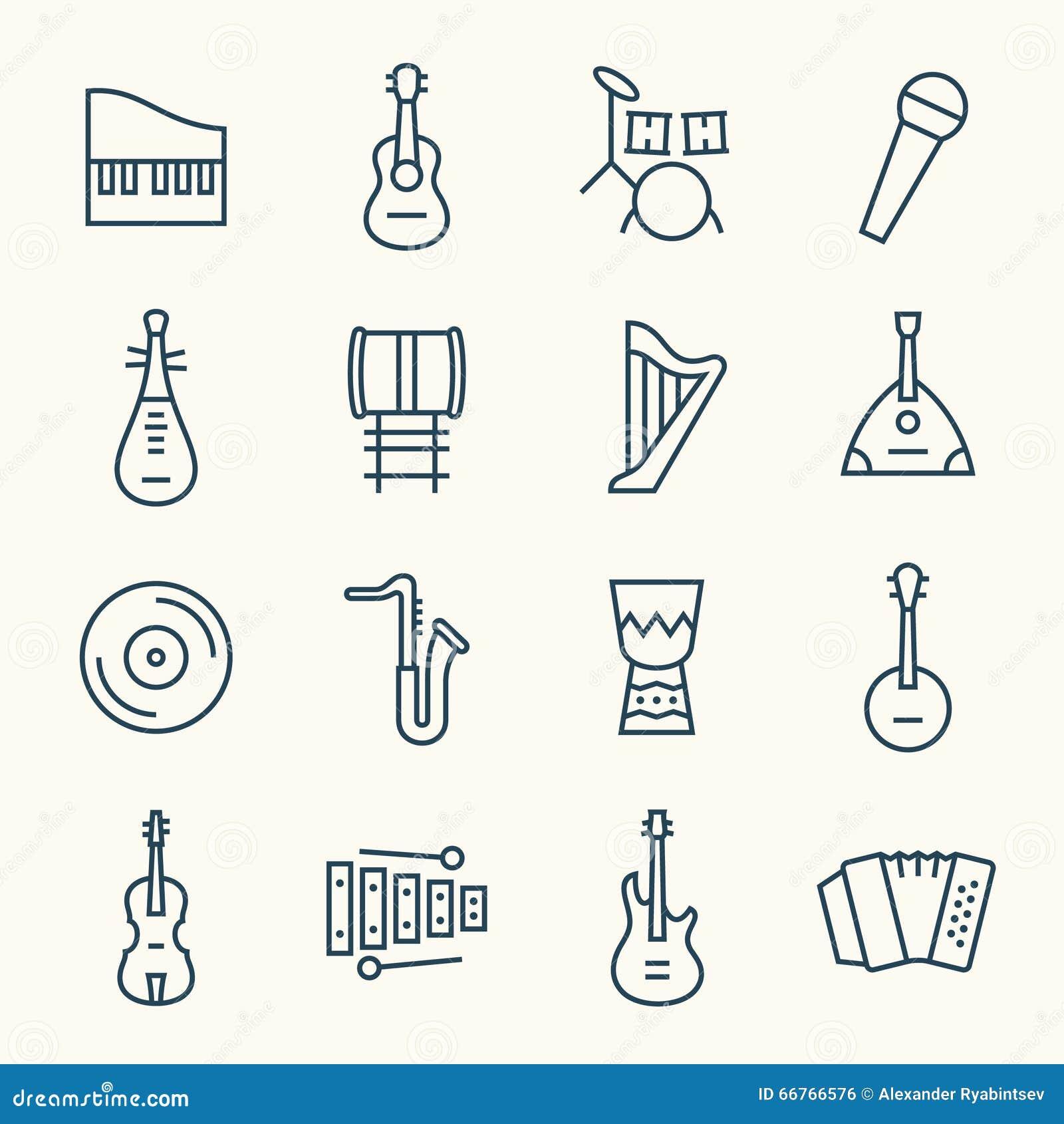 Musikinstrumentlinie Ikonensatz