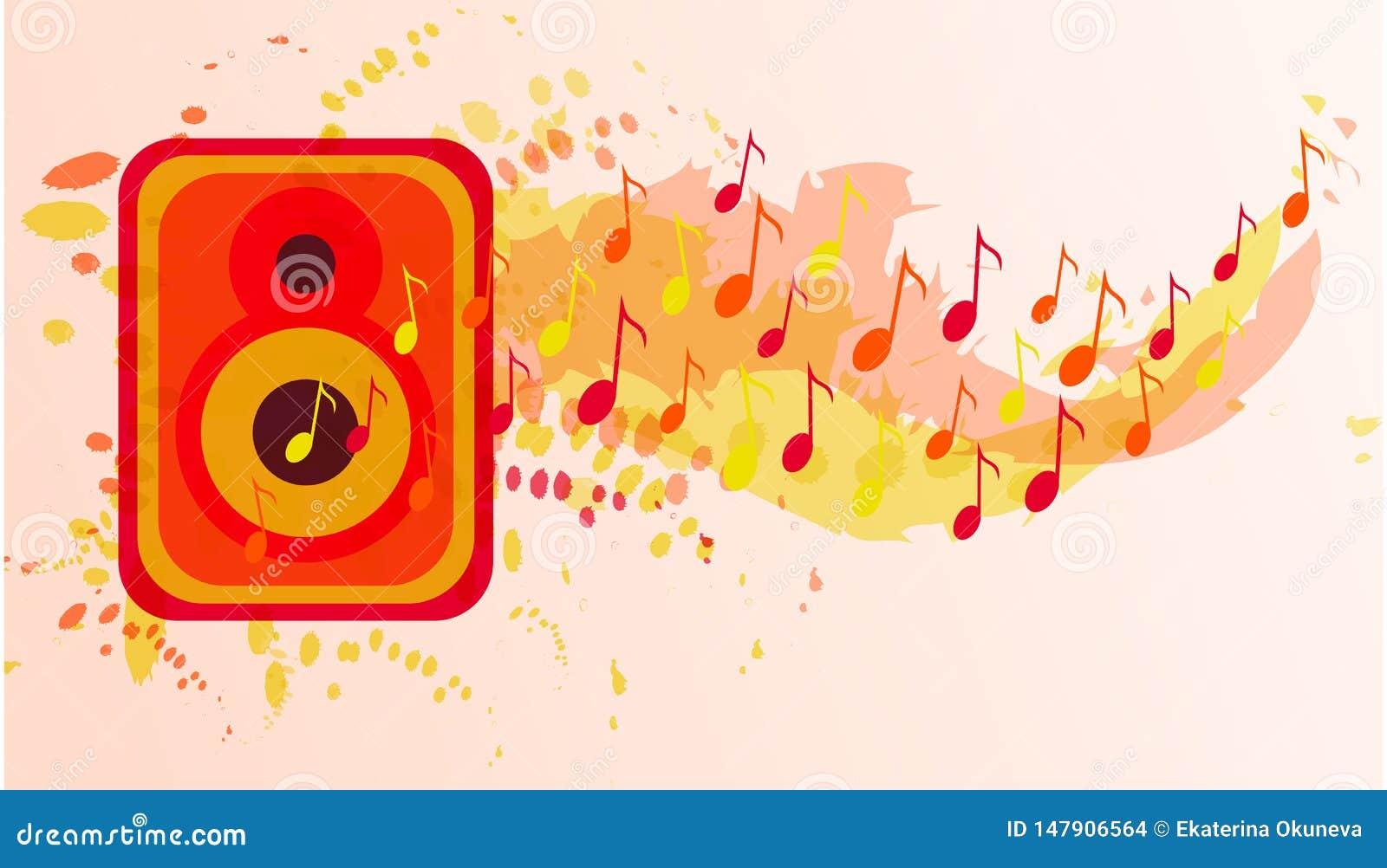 Musikvektorbakgrund Begrepp f?r v?rldsmusikdag
