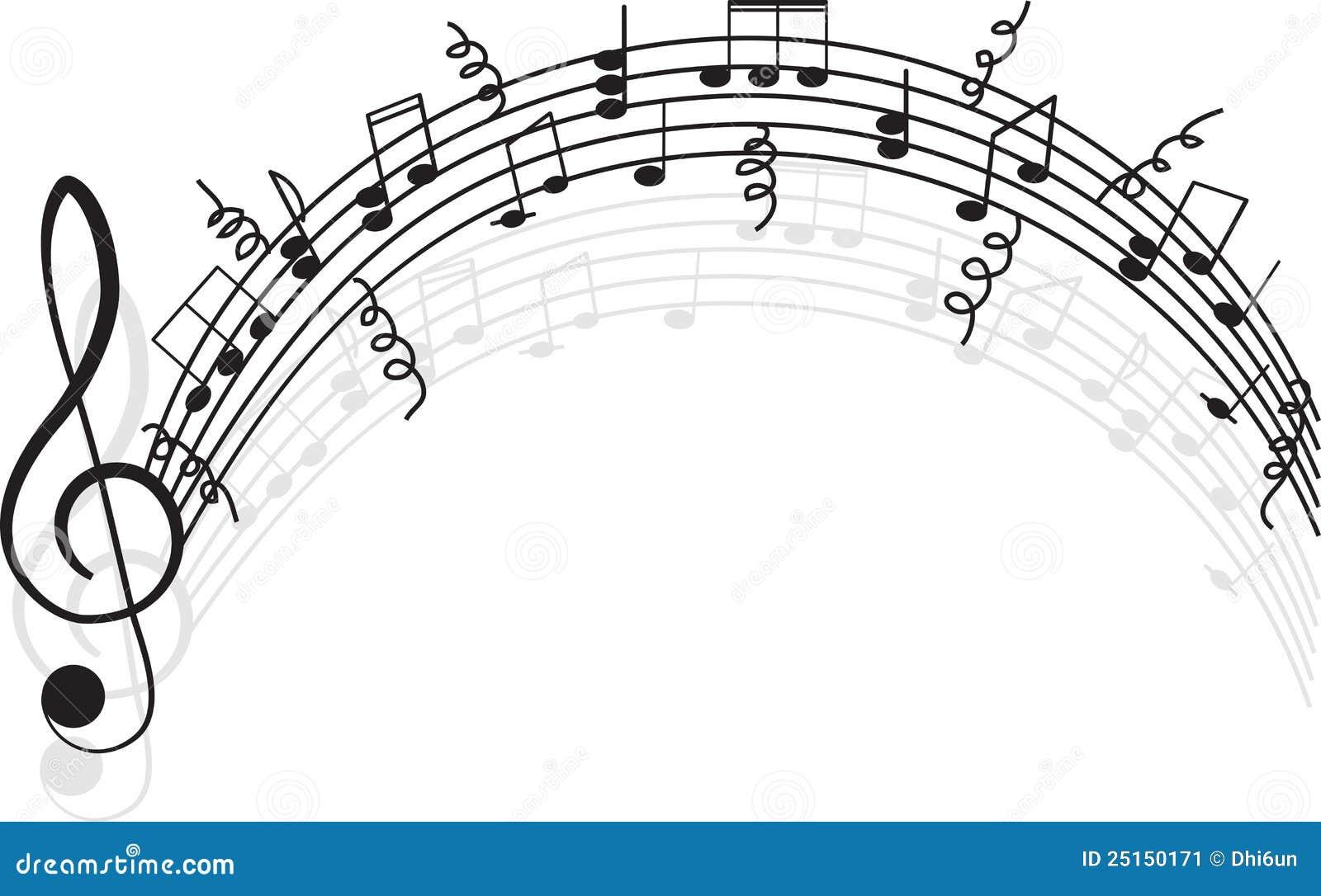 Musique. Clef triple et notes pour votre conception.