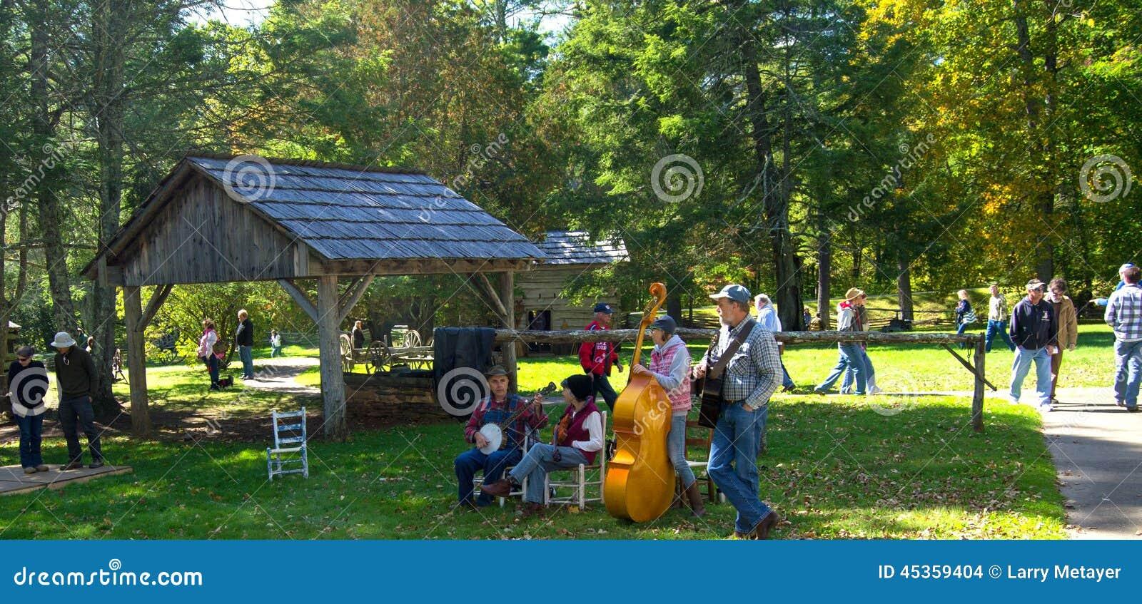 Musique de Mountian sur Ridge Parkway bleu
