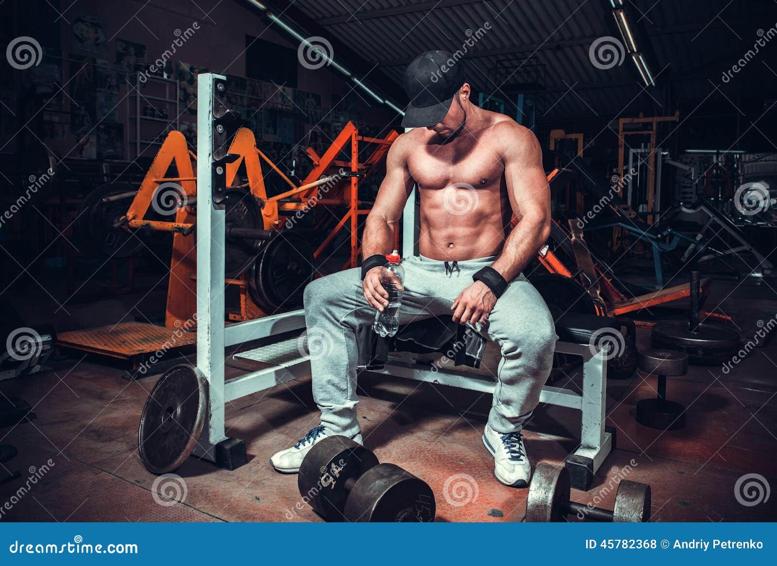 Muskel kopplat av format trött sammanträde för man