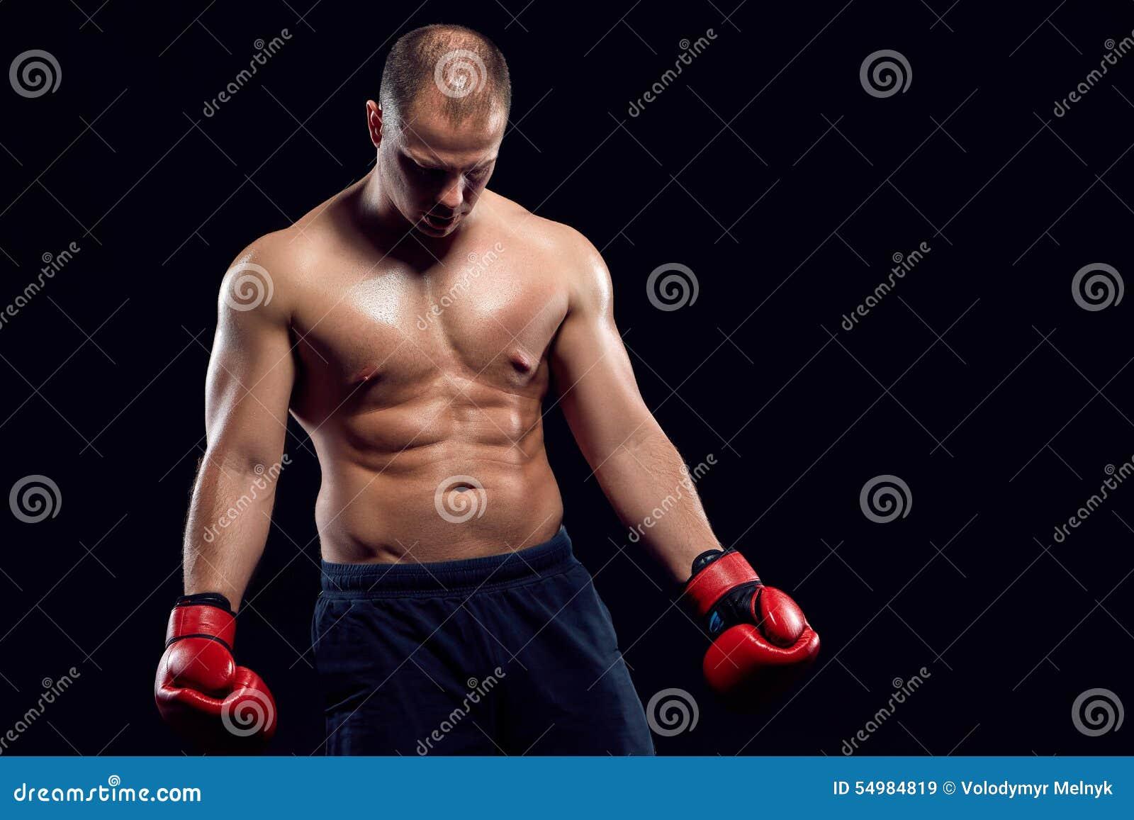 Muskulös man - ung caucasian boxare